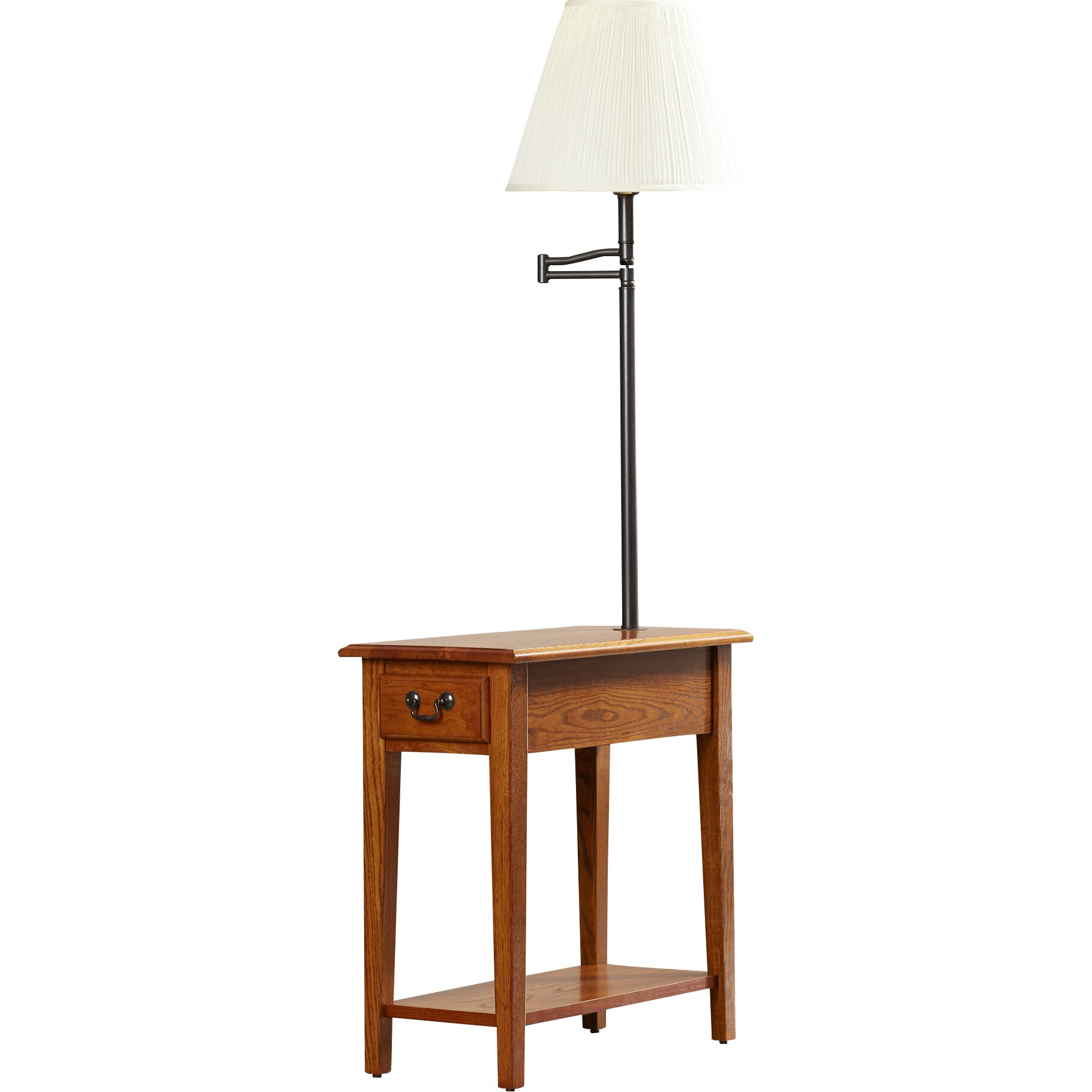 home apple valley chairside lamp end table reviews wayfair. Black Bedroom Furniture Sets. Home Design Ideas