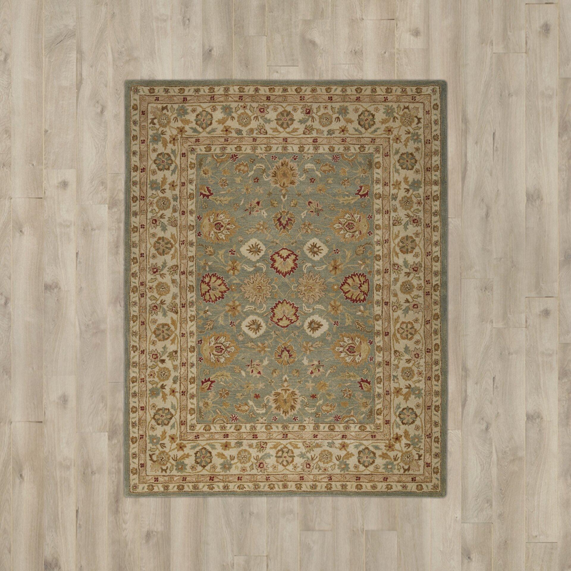 Charlton home bickley blue beige area rug amp reviews wayfair supply