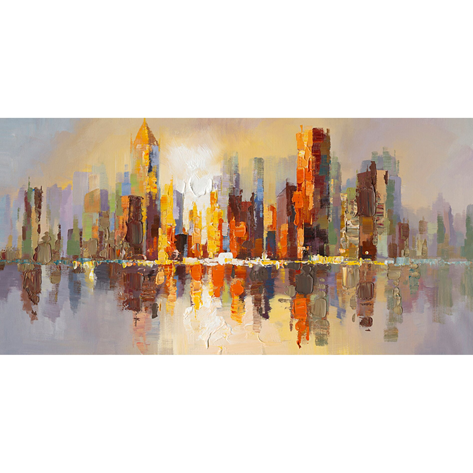 Brayden studio city life painting print on wrapped canvas for Canvas painting classes