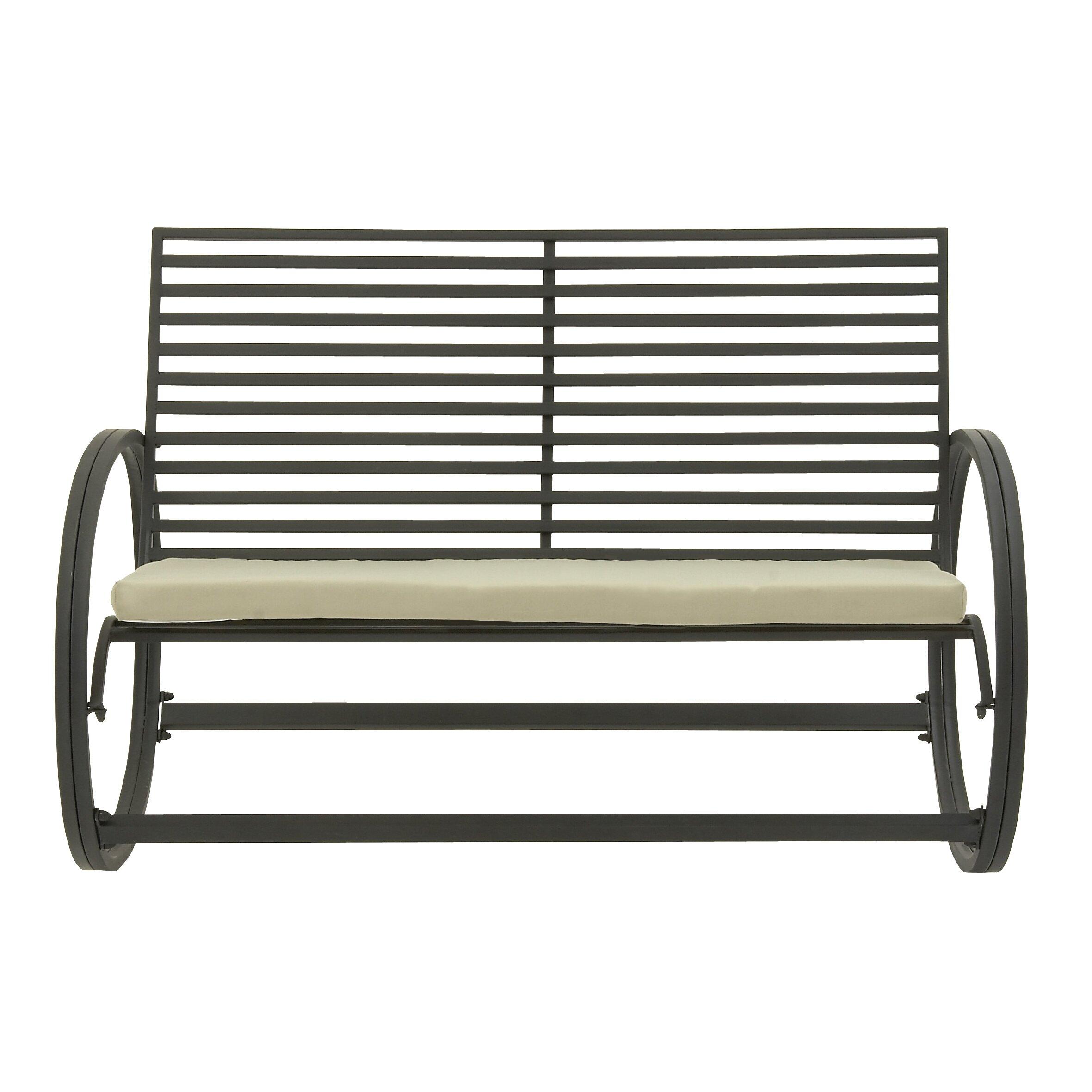 ebron metal garden bench wayfair