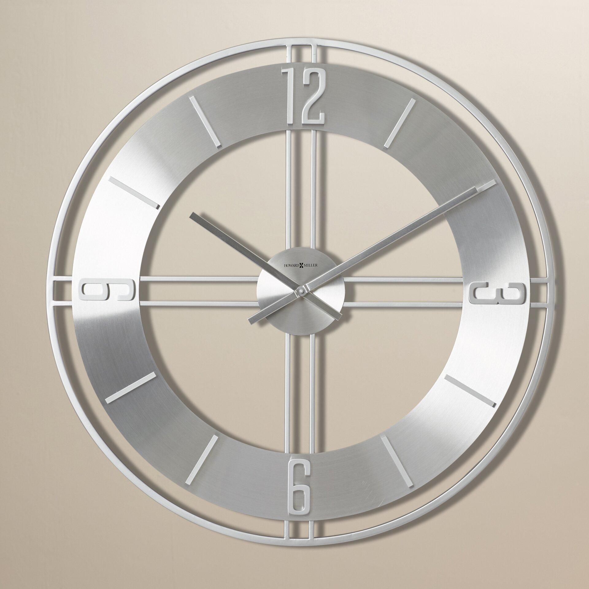 howard miller oversized 30 stapleton wall clock reviews wayfair. Black Bedroom Furniture Sets. Home Design Ideas