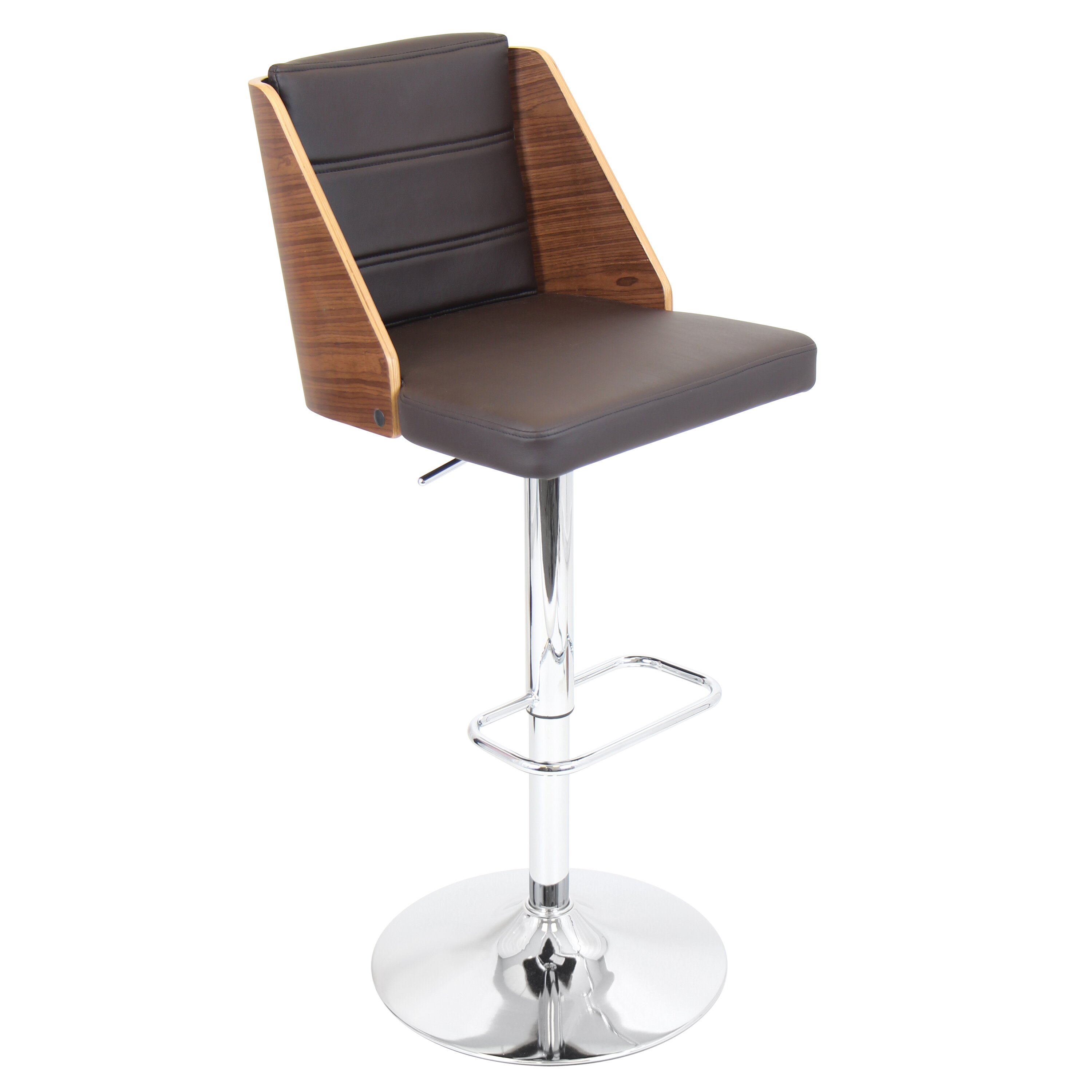 Amazing photo of Adjustable Height Swivel Bar Stool With Cushion Reviews Wayfairca with #B1701A color and 3000x3000 pixels