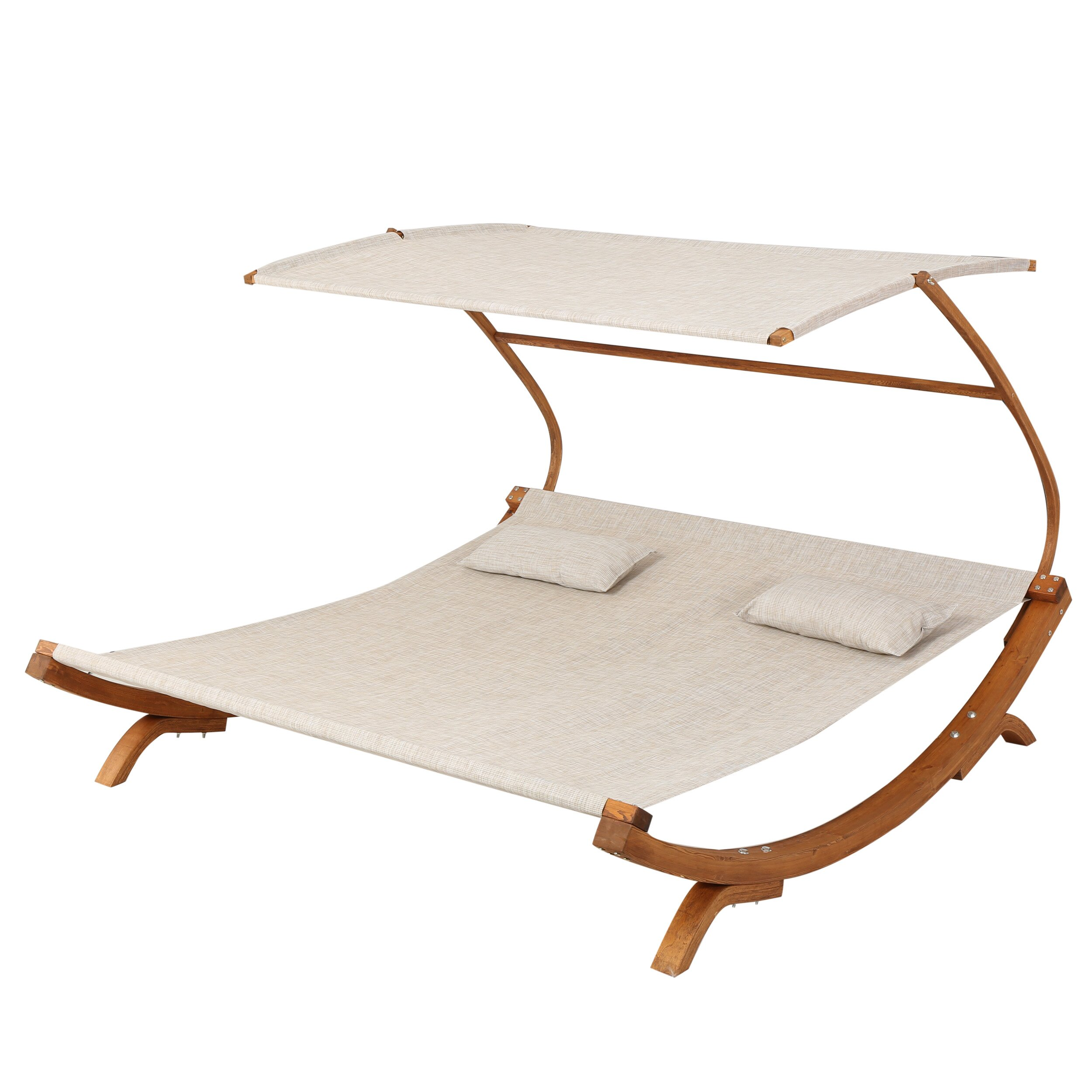 Wade Logan Santa Double Chaise Lounge with Cushion & Reviews