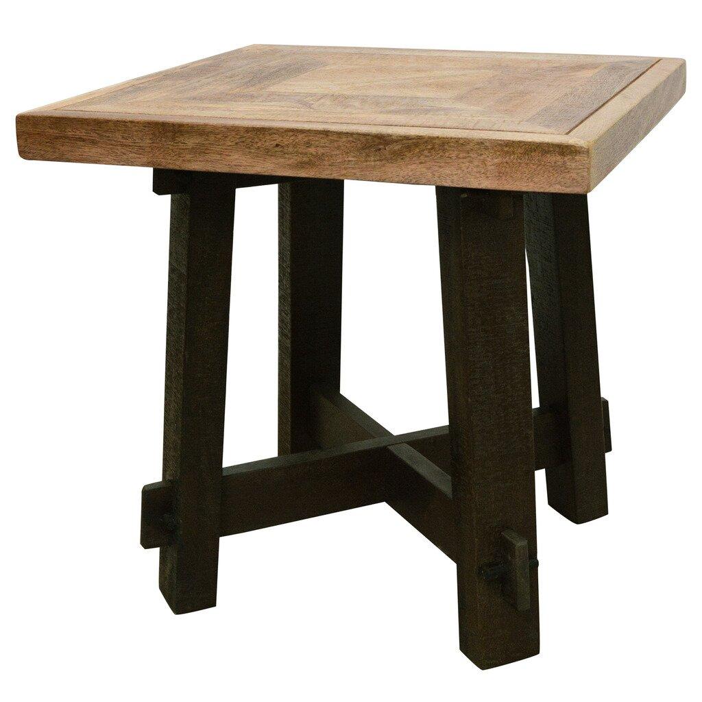 nspire solid wood end table reviews wayfair. Black Bedroom Furniture Sets. Home Design Ideas
