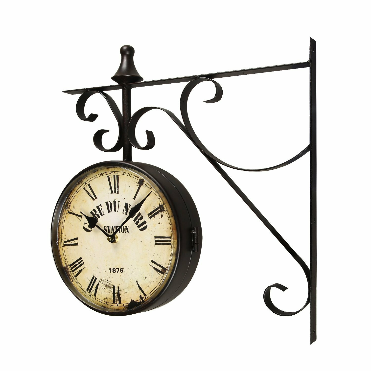 Lark Manor 9 4 Quot Round Double Sided Hanging Wall Clock