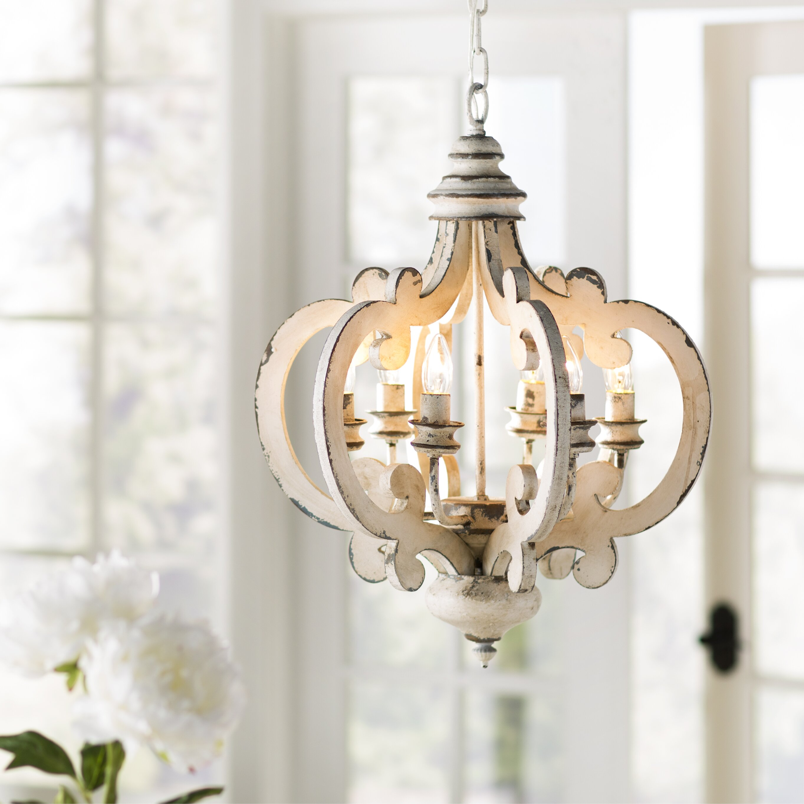Lark Manor Bullrush 6 Light Mini Chandelier & Reviews | Wayfair