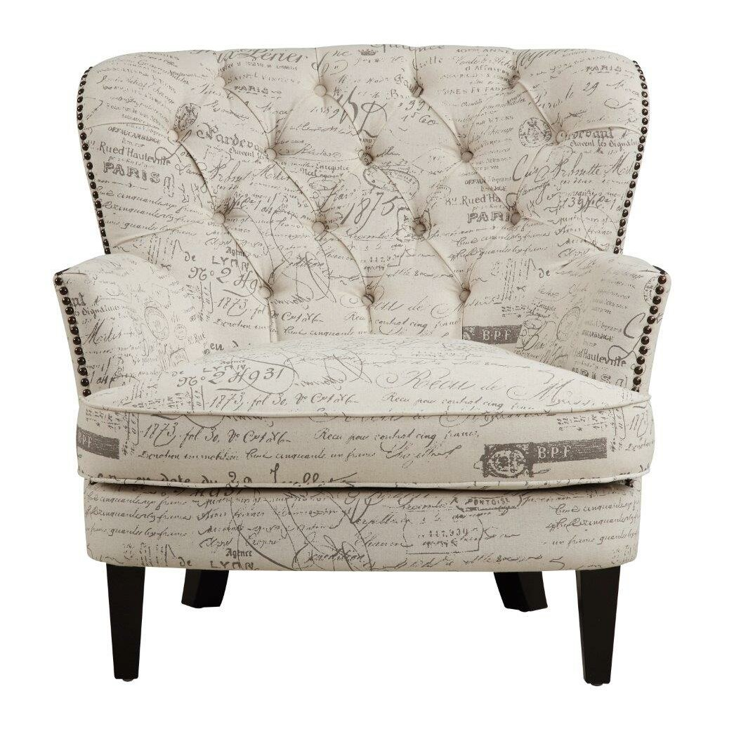Lark Manor Timothee Script Upholstered Arm Chair & Reviews