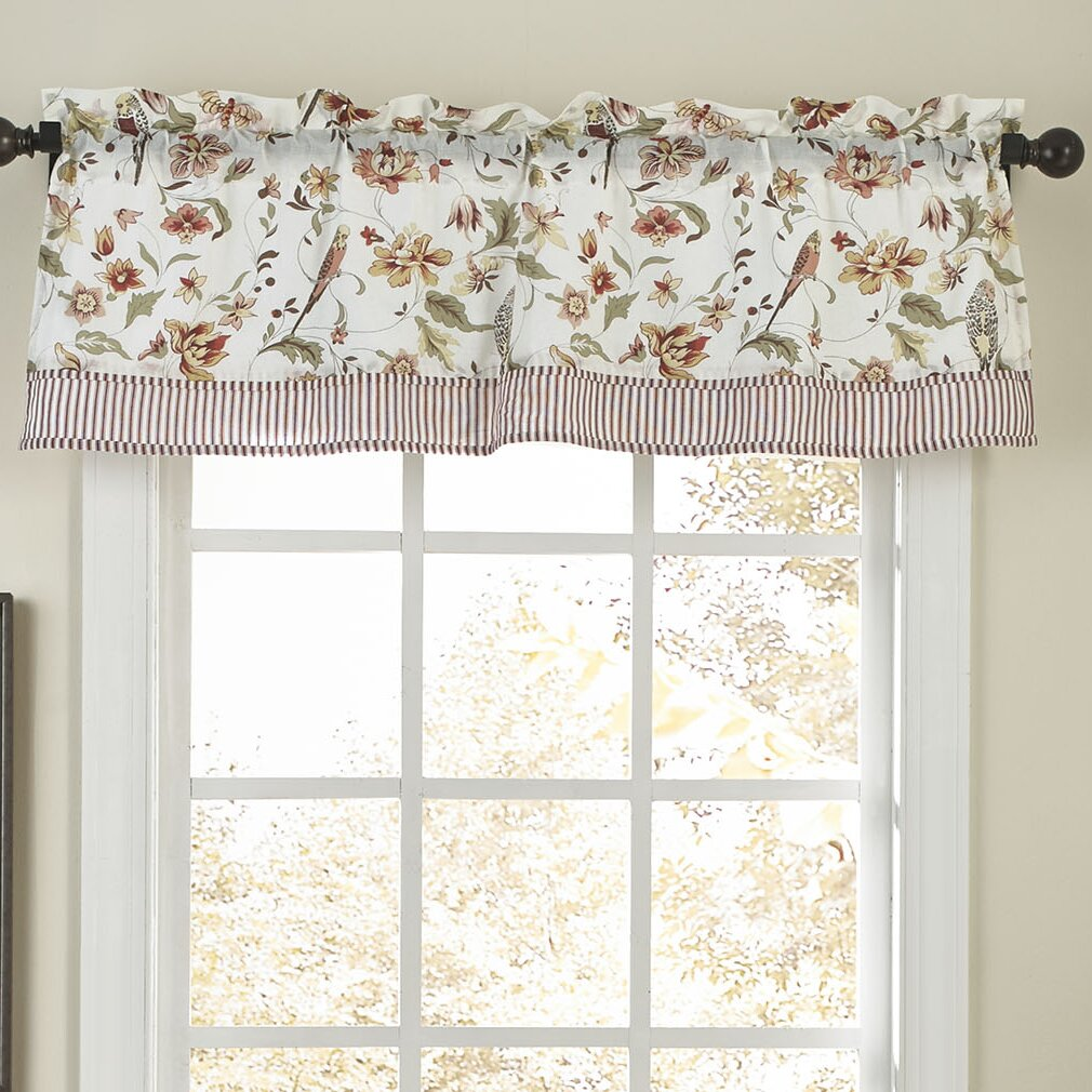 Waverly Retweet Straight Curtain Valance & Reviews