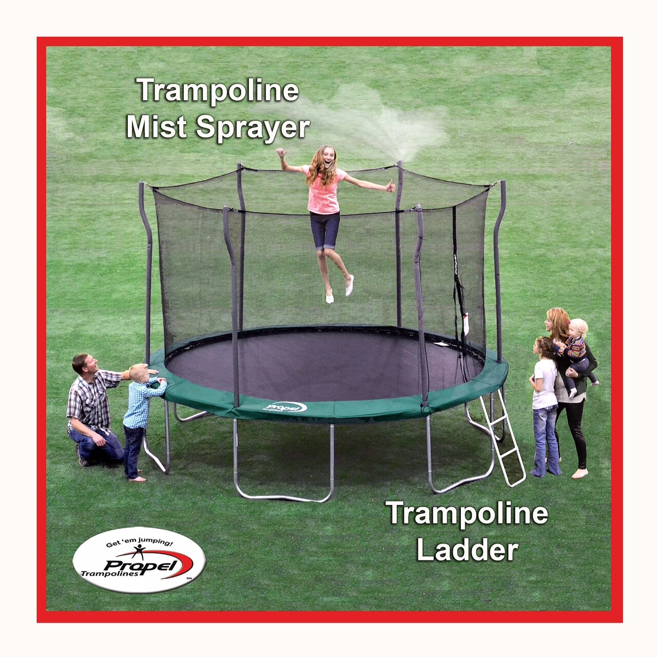 "Propel Trampolines 36"" Trampoline Ladder And Mister Kit"