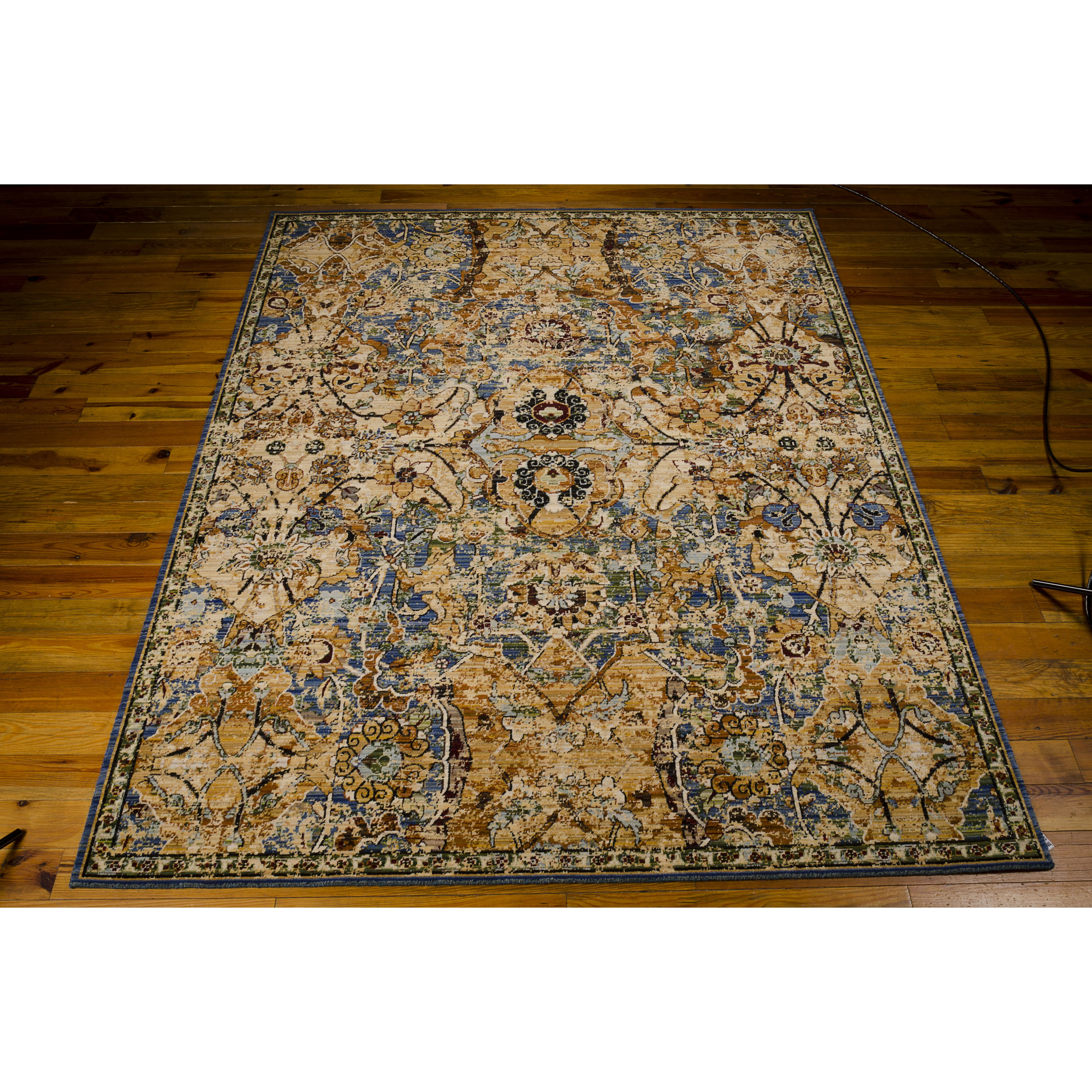 Eternal Peacock Floral And Geometric Area Rug
