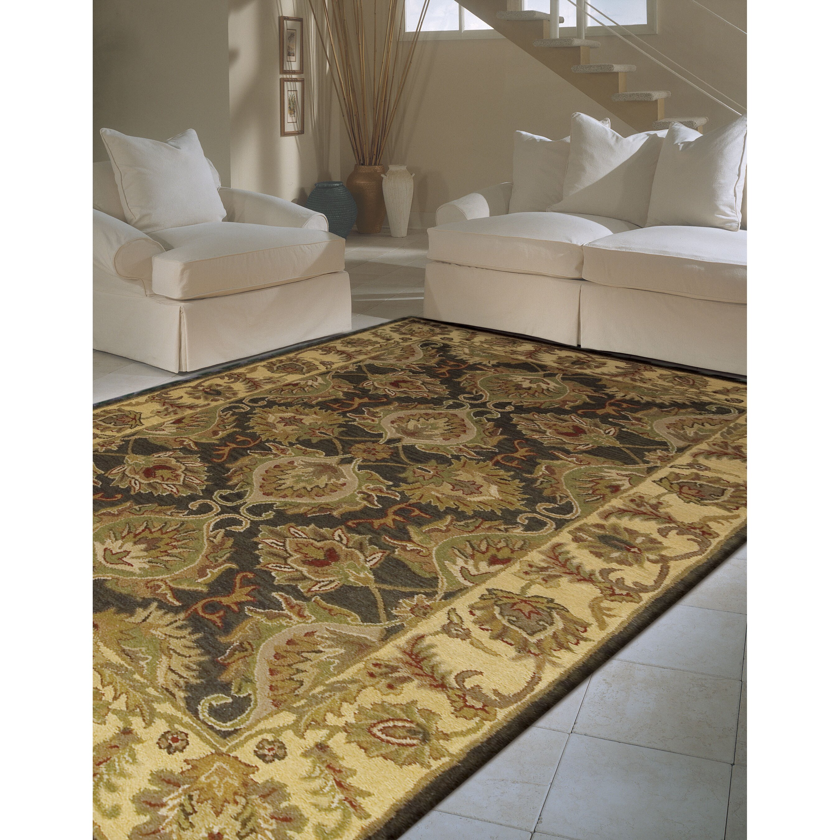 Area Rugs From India: India House Green Area Rug
