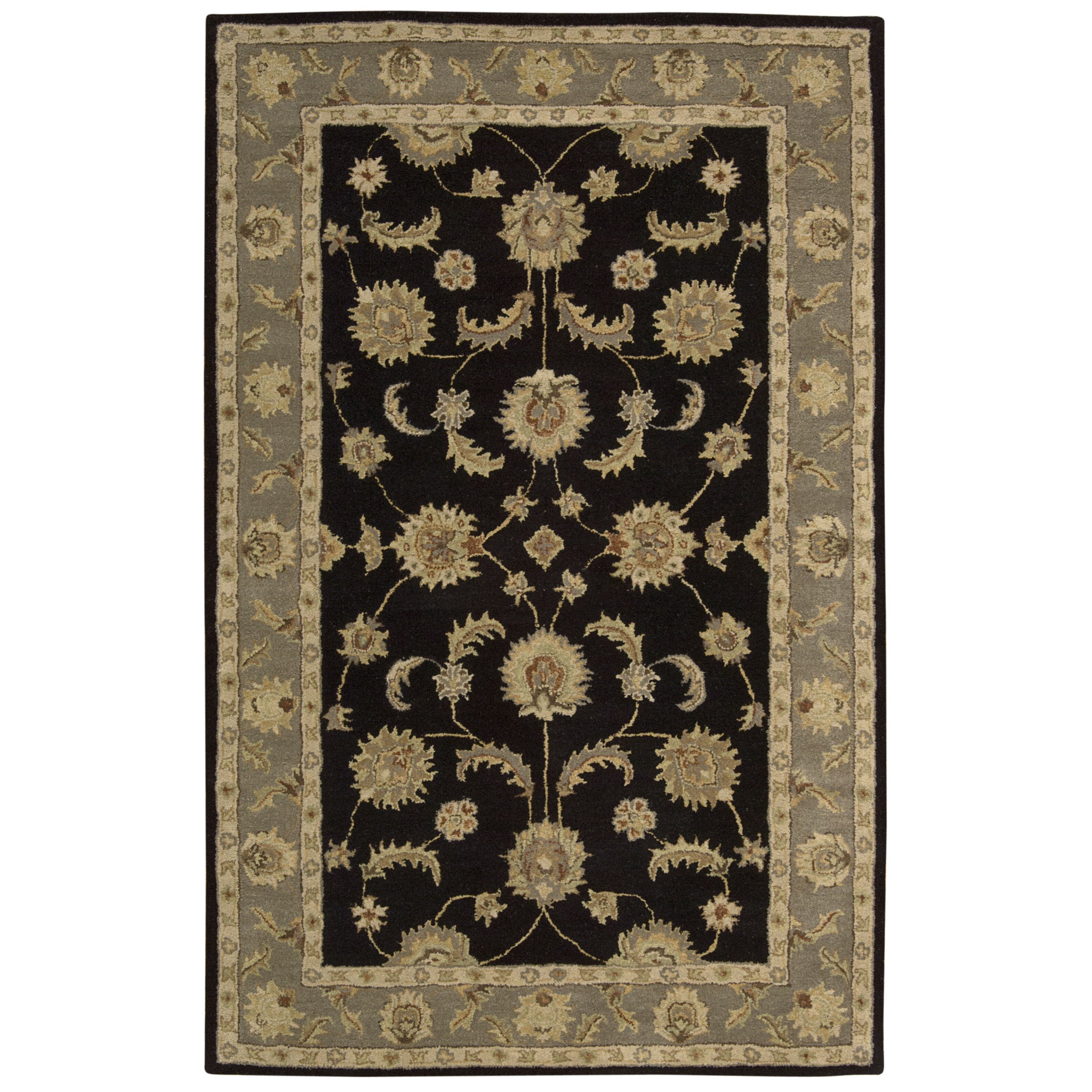 Area Rugs From India: India House Black Area Rug