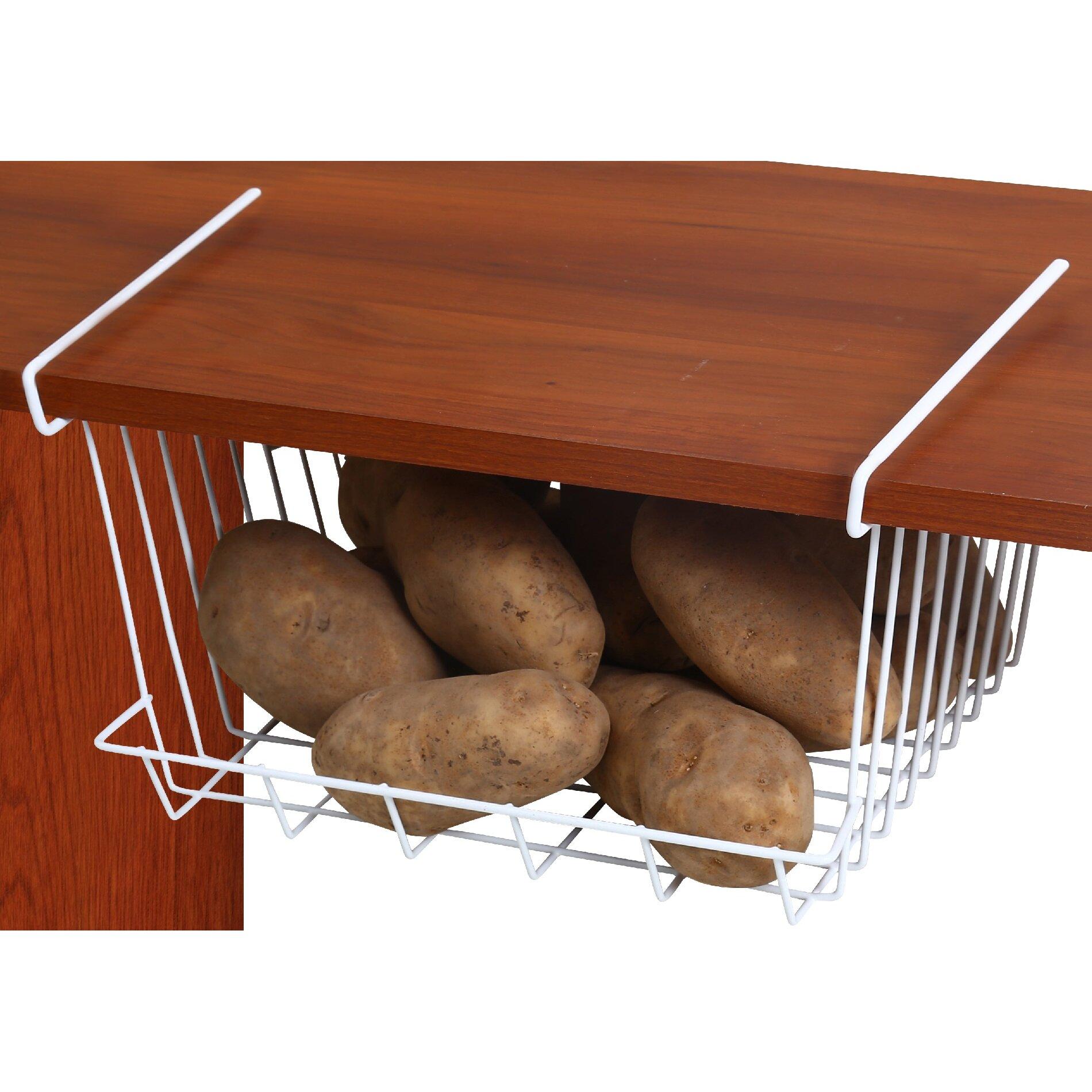 ybm home under shelf storage basket reviews wayfair. Black Bedroom Furniture Sets. Home Design Ideas