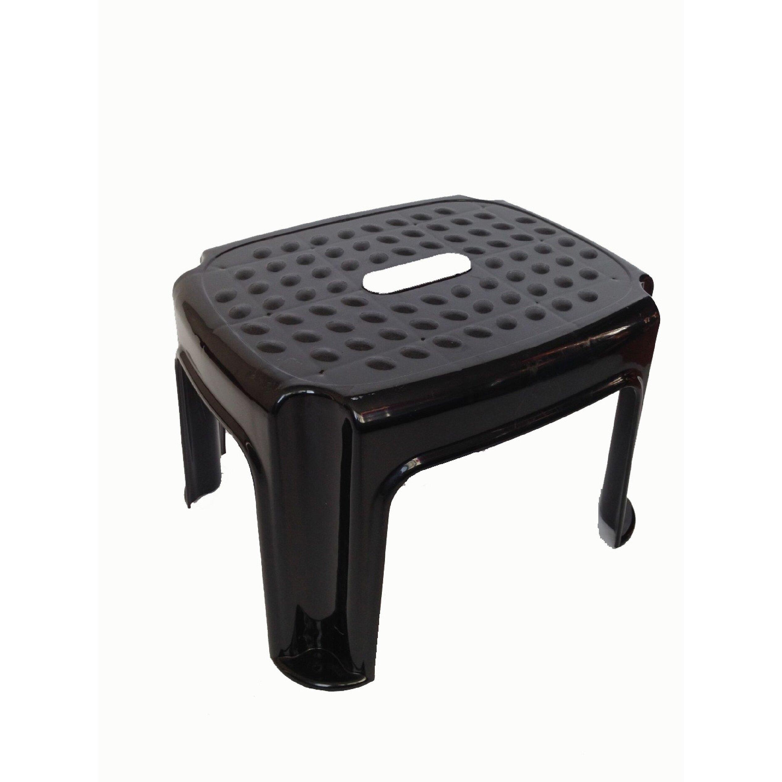 Ybm Home Plastic Step Stool With 400 Lb Load Capacity