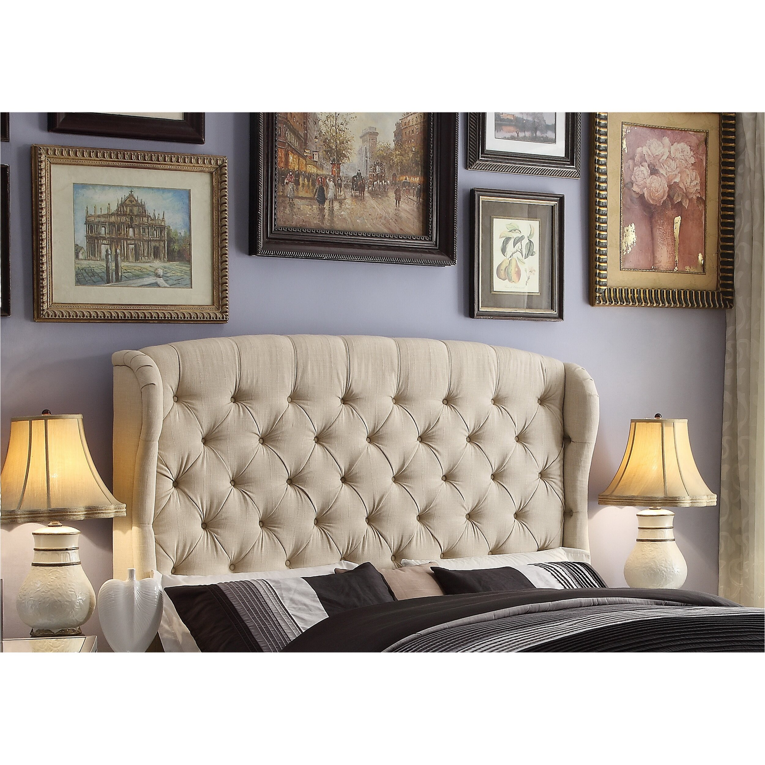 Mulhouse furniture feliciti queen upholstered headboard - Boutique free mulhouse ...
