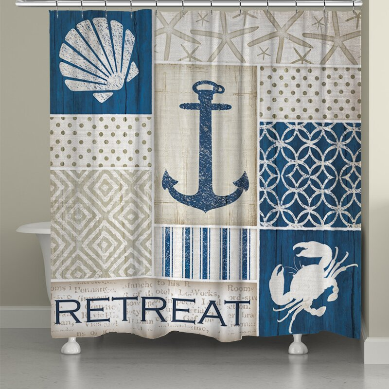 LauralHome Coastal Retreat Shower Curtain & Reviews