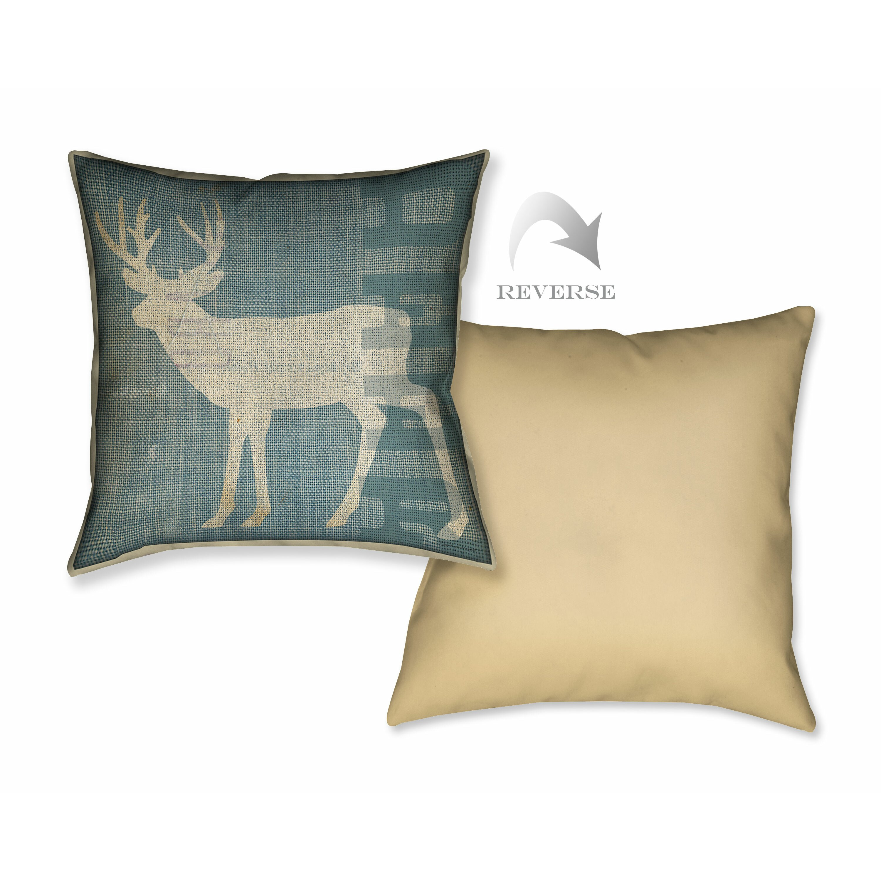 Lodge Deer Throw Pillow Wayfair