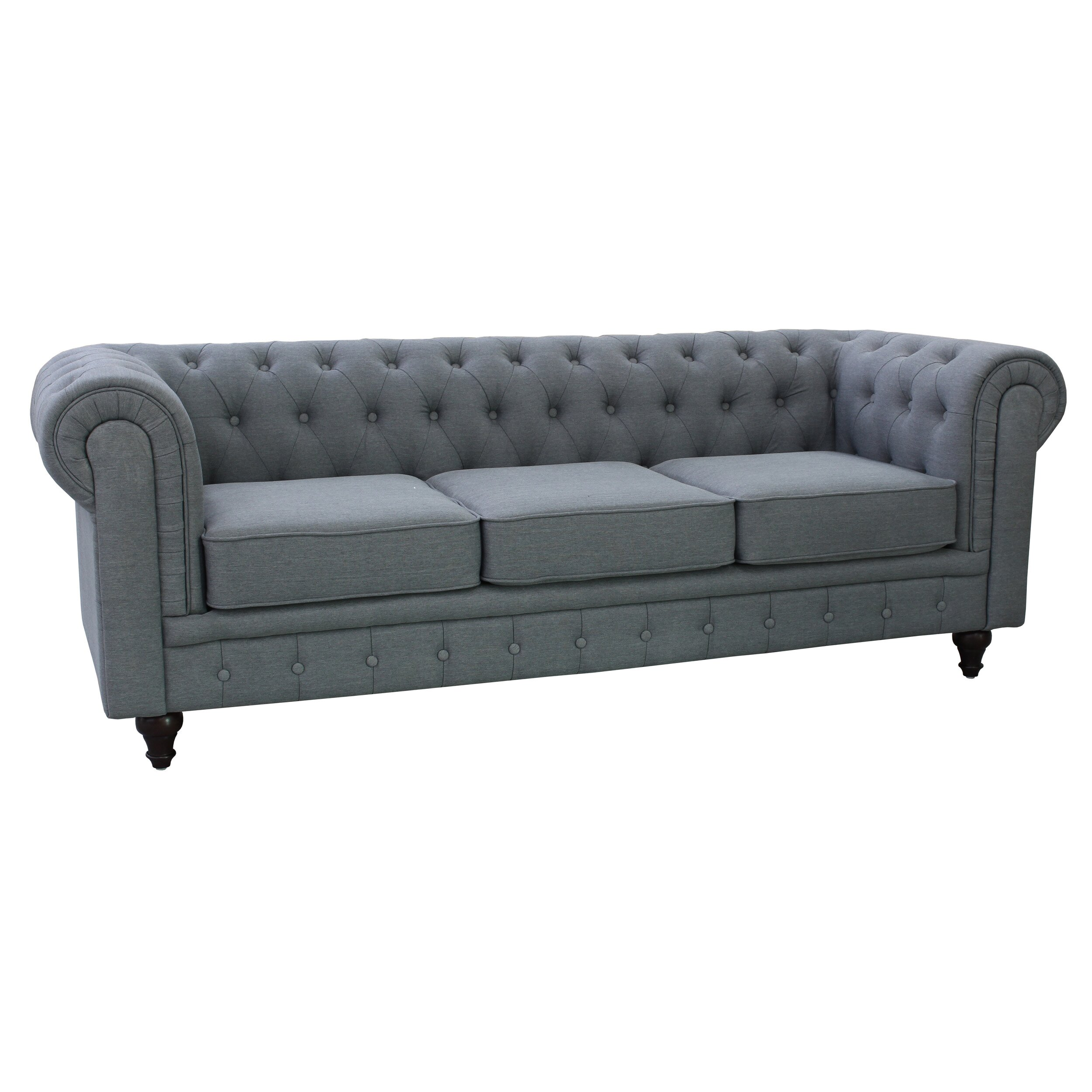 Grace Linen Fabric Chesterfield Sofa Wayfair