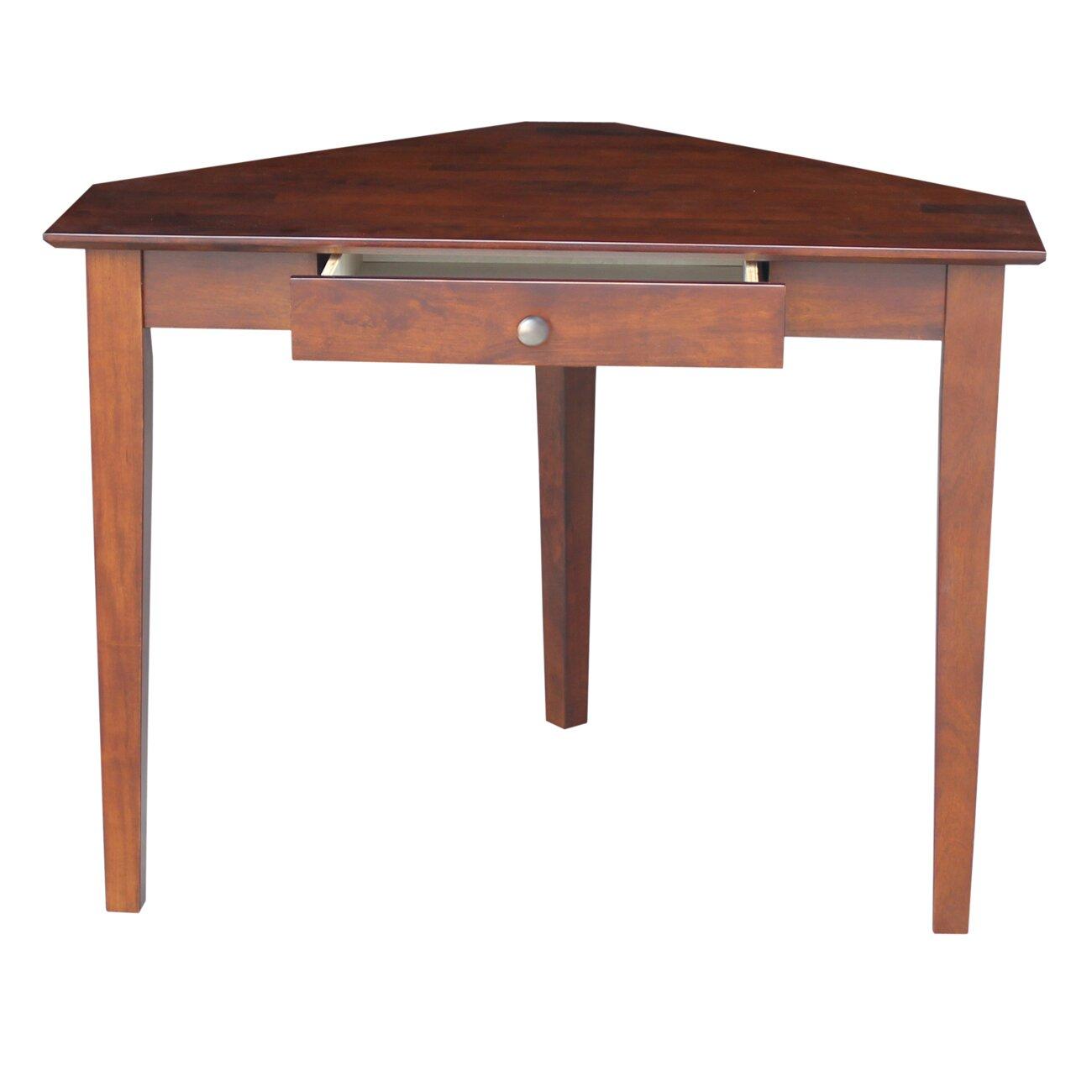 international concepts corner desk with storage drawer reviews wayfair. Black Bedroom Furniture Sets. Home Design Ideas