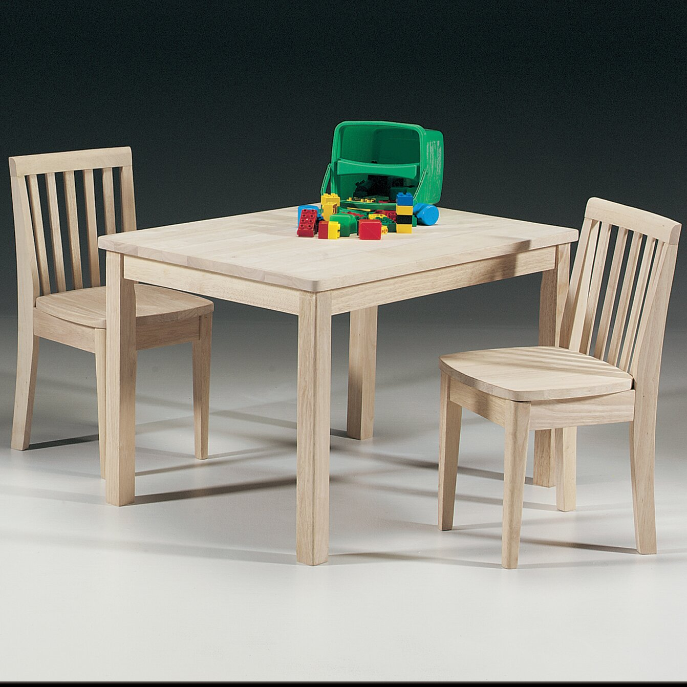 Wonderful image of International Concepts Unfinished Wood Mission Juvenile Kids Table and  with #B59616 color and 1342x1342 pixels