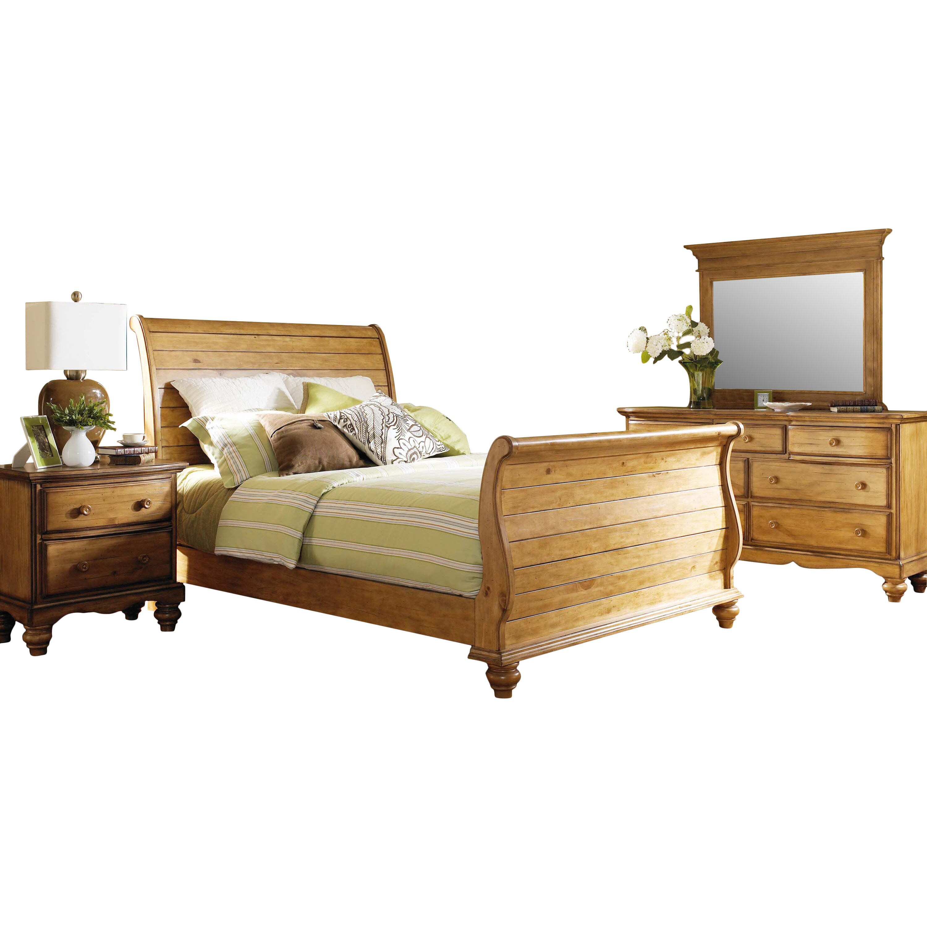 Emeline Sleigh 4 Piece Bedroom Set Wayfair