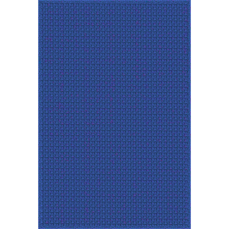 Myrtle hand woven blue indoor outdoor area rug wayfair for Blue indoor outdoor rug