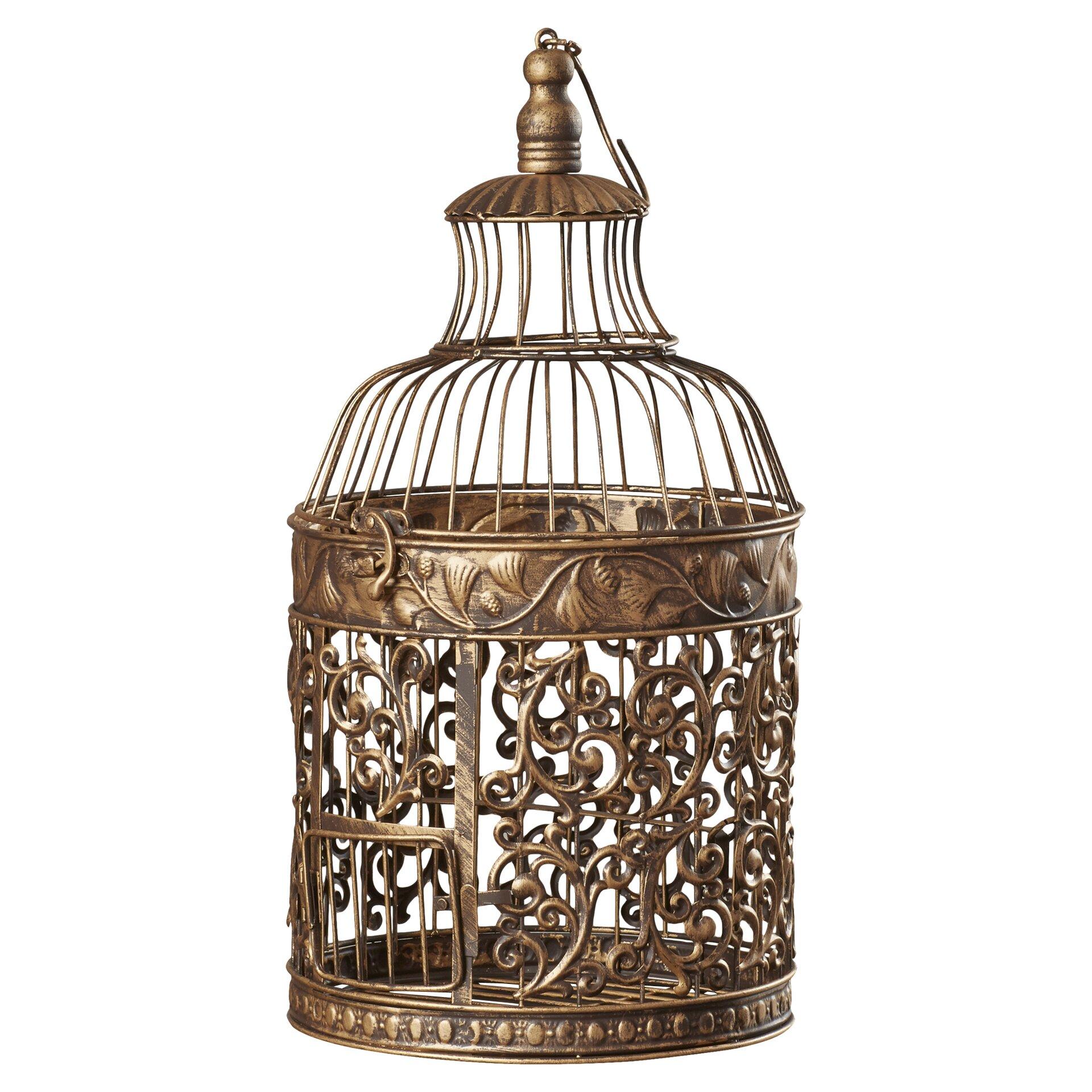 August Grove Ettie 2 Piece Decorative Metal Bird Cage Set ...