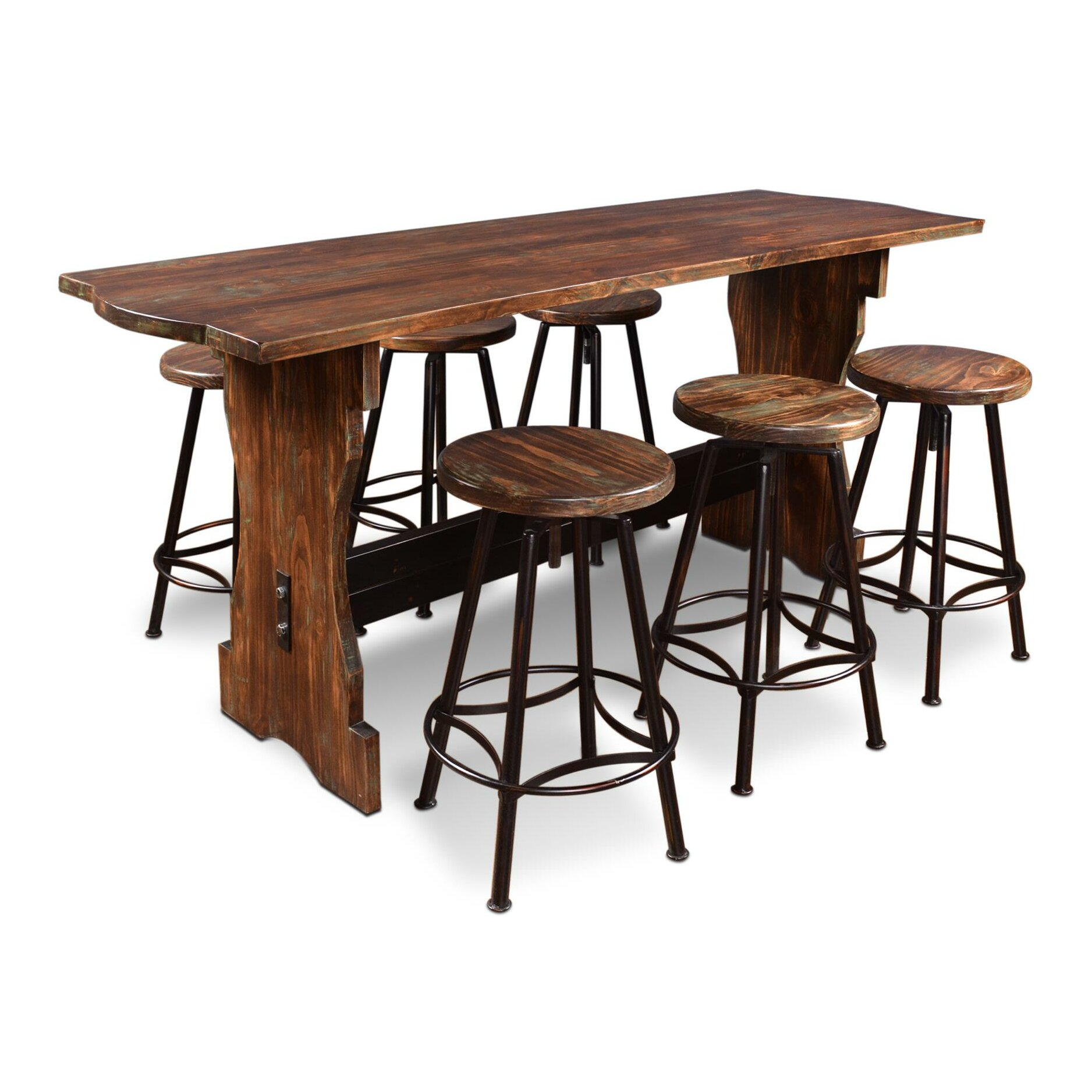Conrad 7 Piece Counter Height Pub Table Set by August Grove