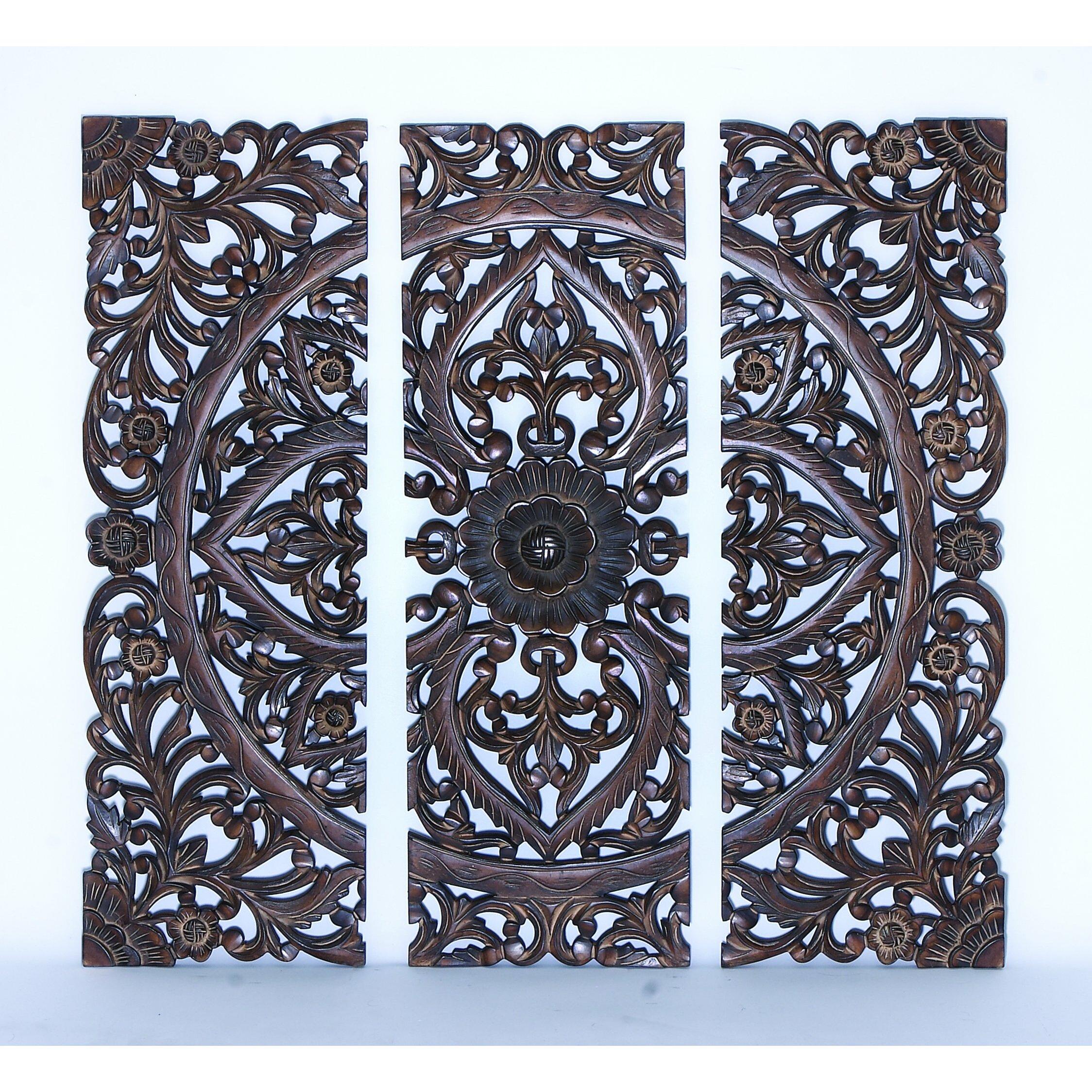 One Allium Way 3 Piece Wood Panel Wall Décor Set & Reviews