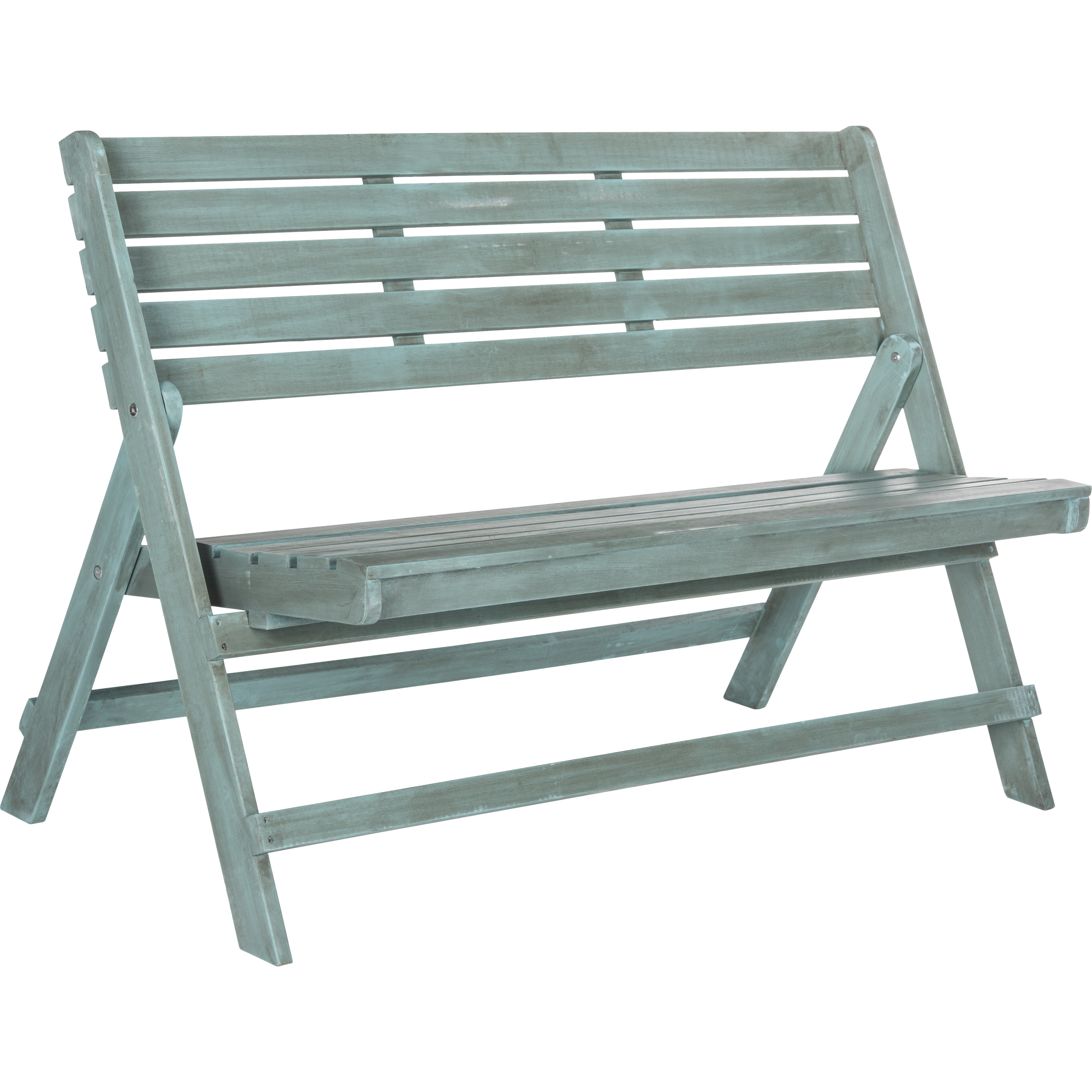 One Allium Way Luca Folding Wood Garden Bench Reviews Wayfair
