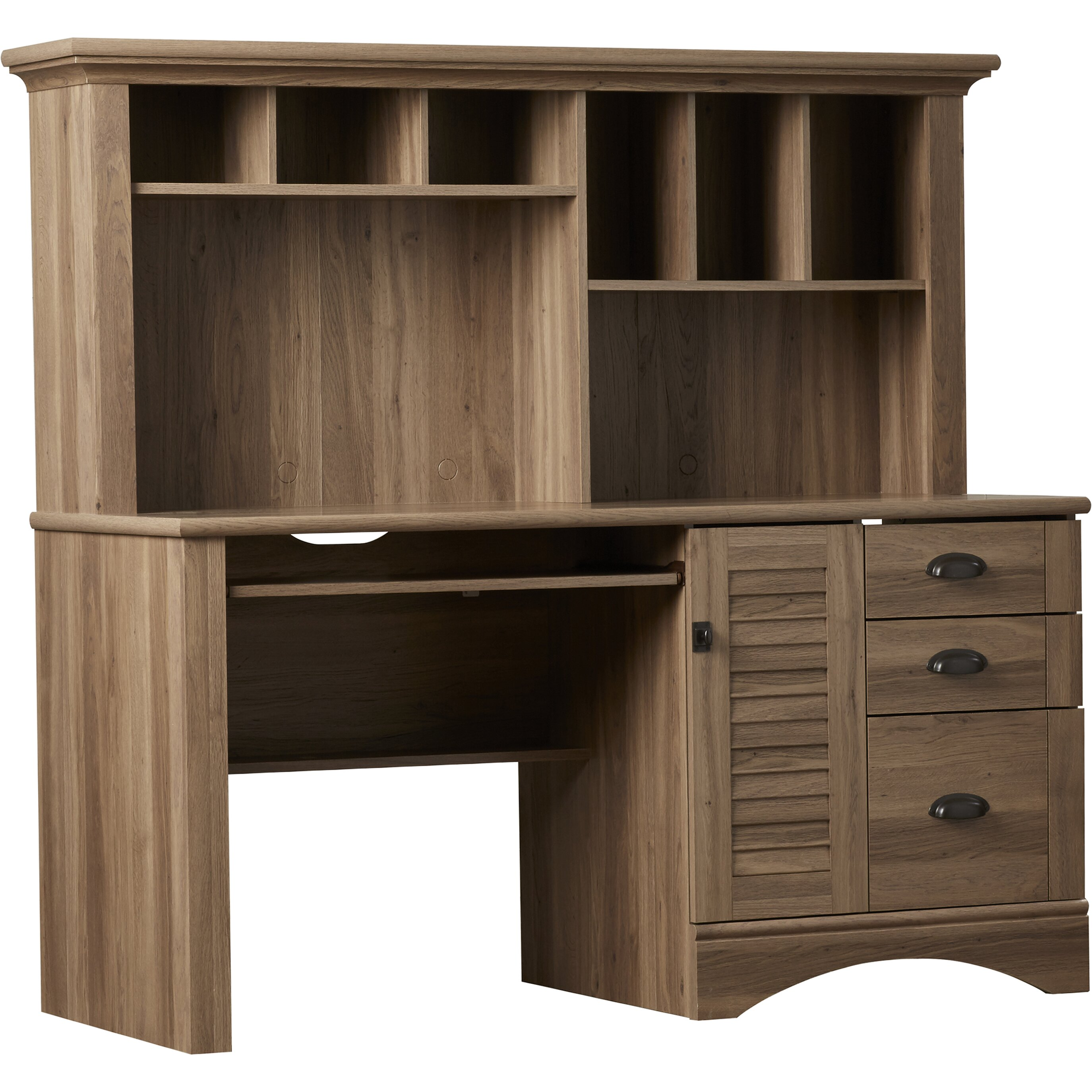 beachcrest home pinellas computer desk with hutch reviews wayfair. Black Bedroom Furniture Sets. Home Design Ideas