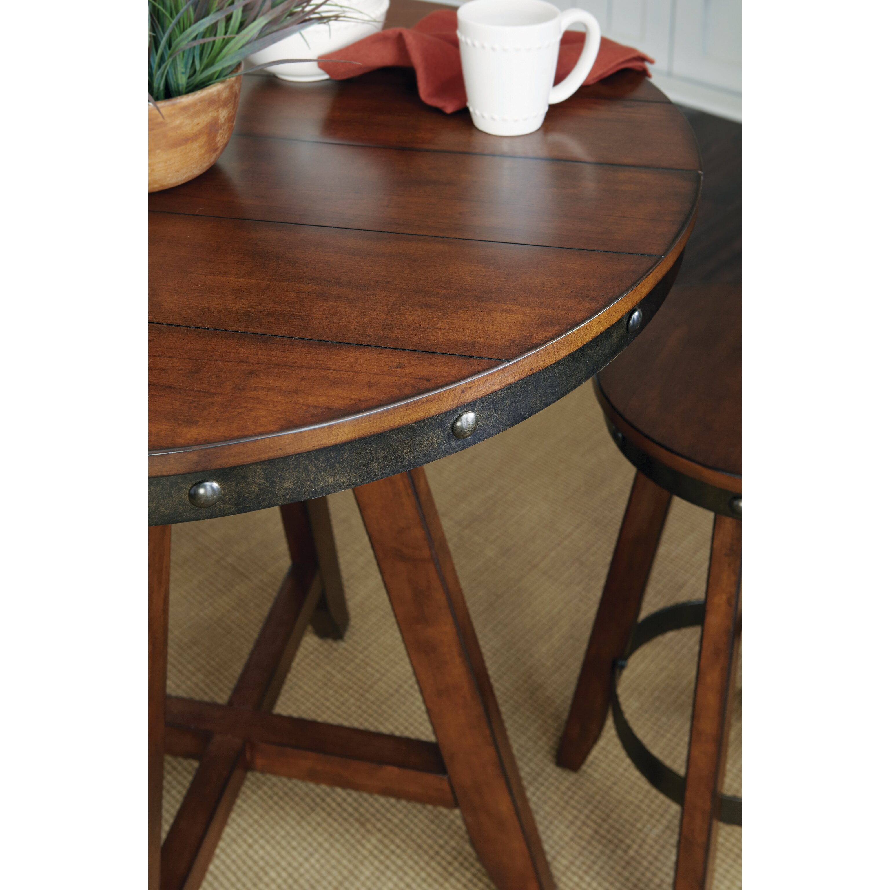 Loon Peak Siskiyou Round Counter Height Dining Table Reviews