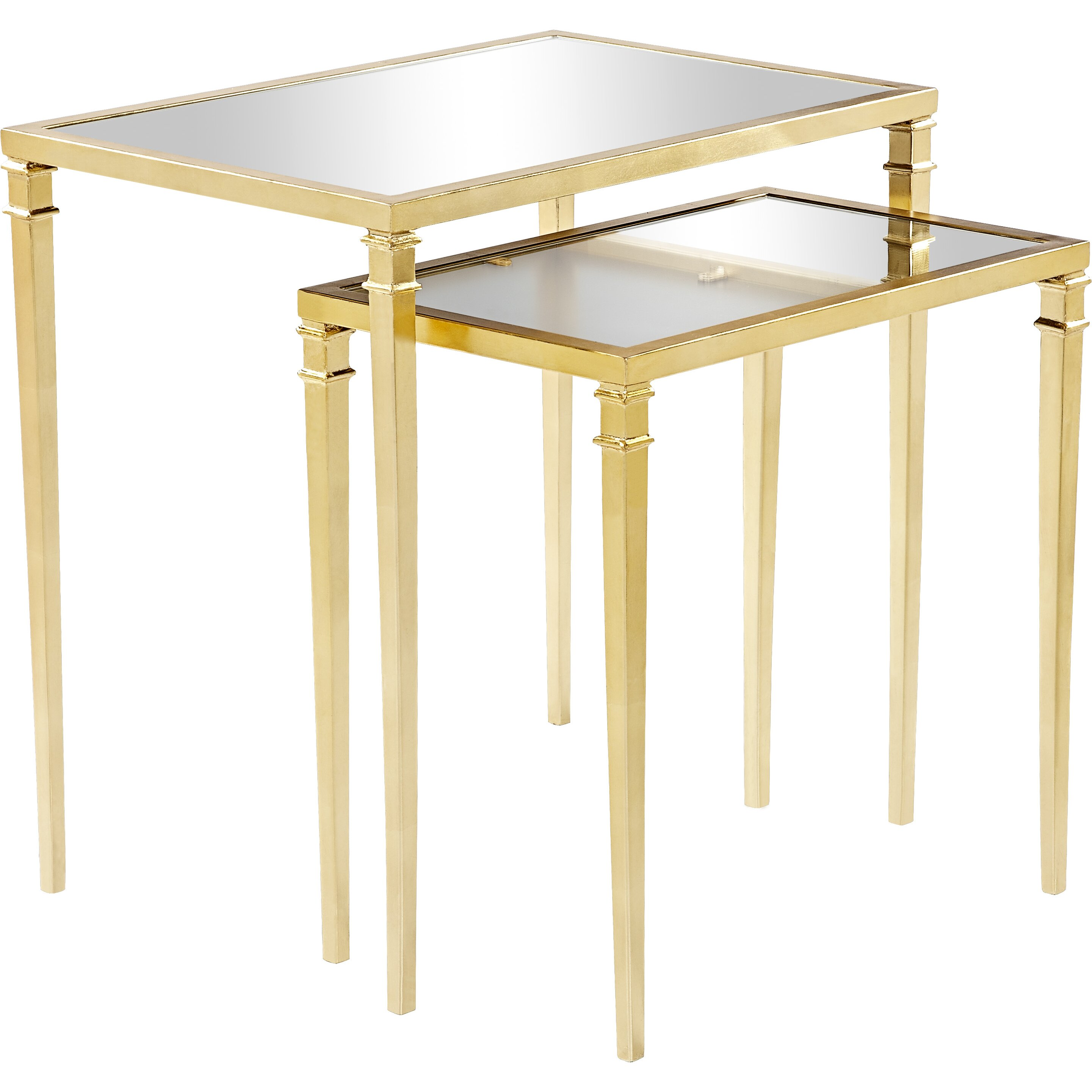 House Of Hampton Kenzie 2 Piece Nesting Table Set & Reviews Wayfair. Full resolution  photo, nominally Width 2881 Height 2881 pixels, photo with #A78624.