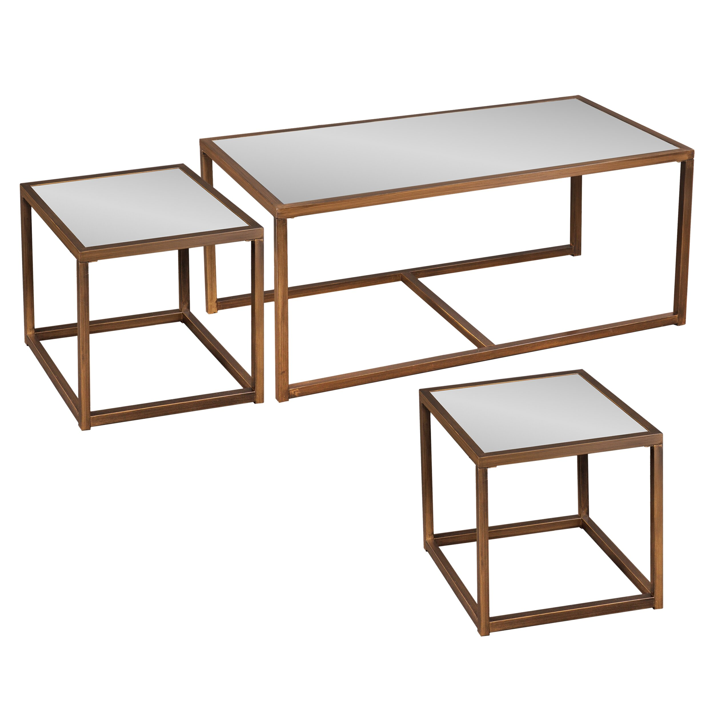 Hardy 3 Piece Nesting Coffee Table Set HOHN2492 HOHN2492
