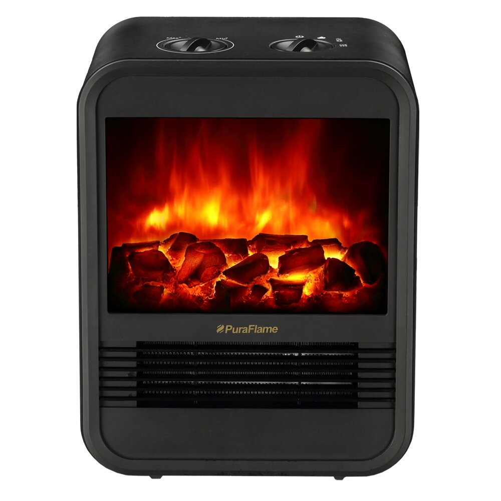mini portable electric fireplace wayfair. Black Bedroom Furniture Sets. Home Design Ideas