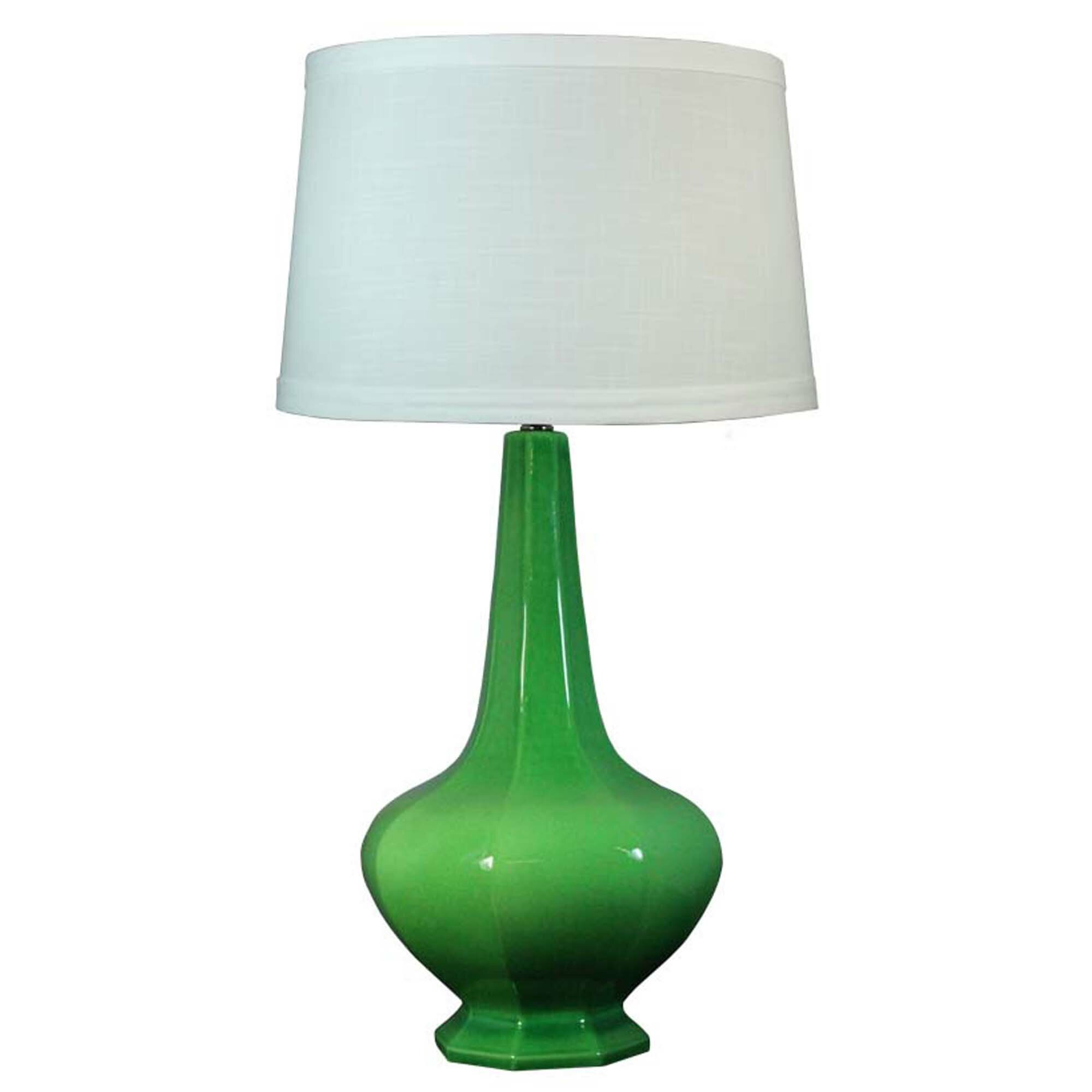 fangio green 30 h table lamp with empire shade wayfair. Black Bedroom Furniture Sets. Home Design Ideas