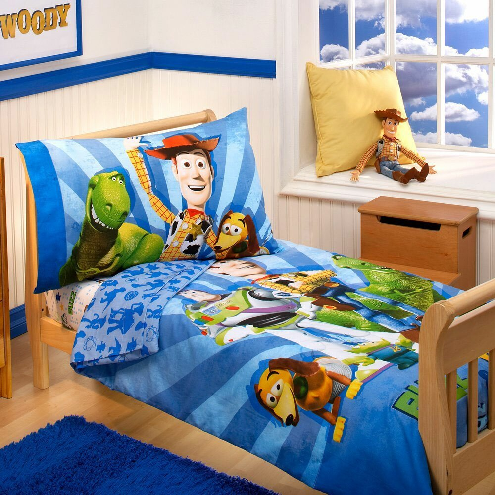 toy story buzz woody 4 piece toddler bedding set by store 51