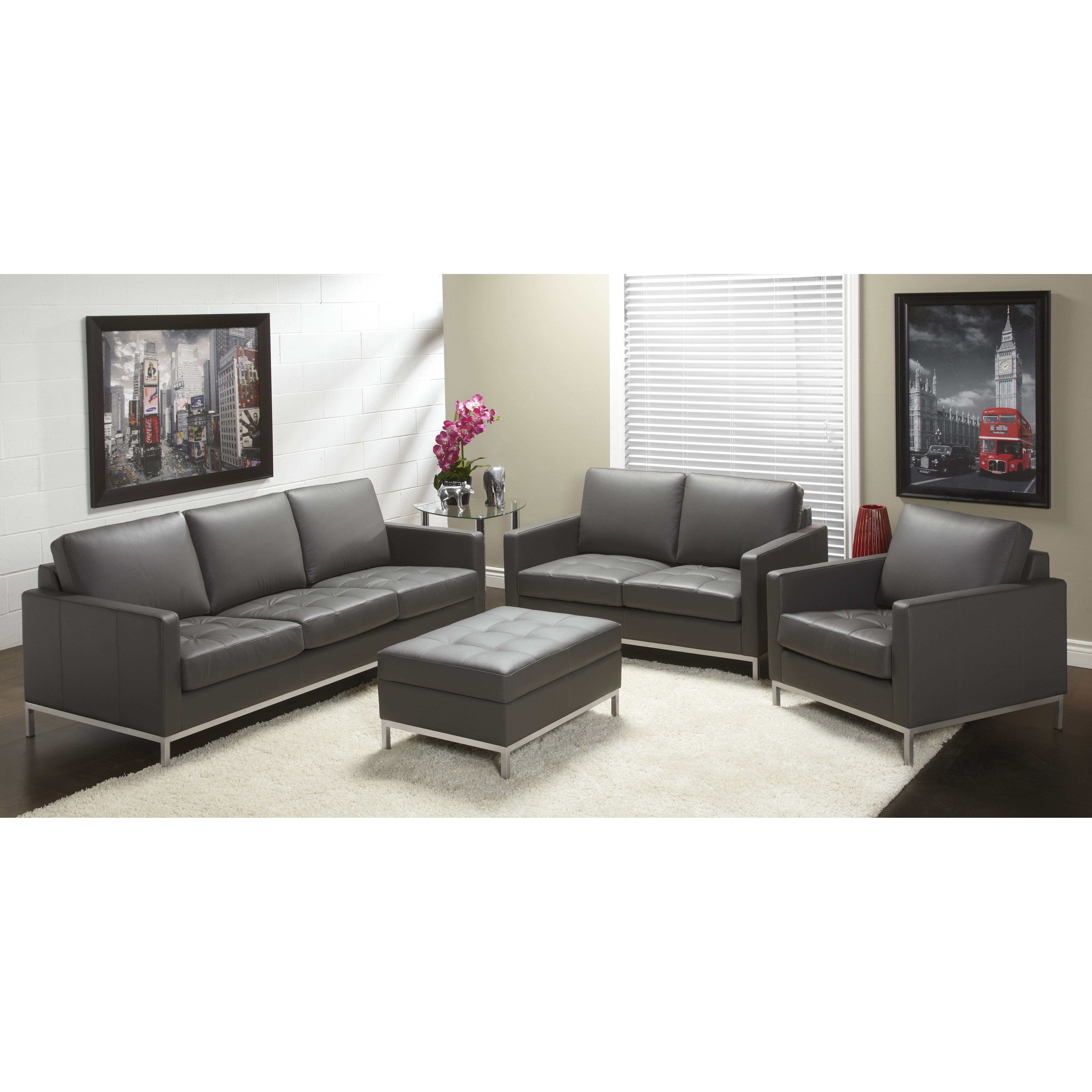 Lind Furniture 244 Series Top Grain Leather Living Room