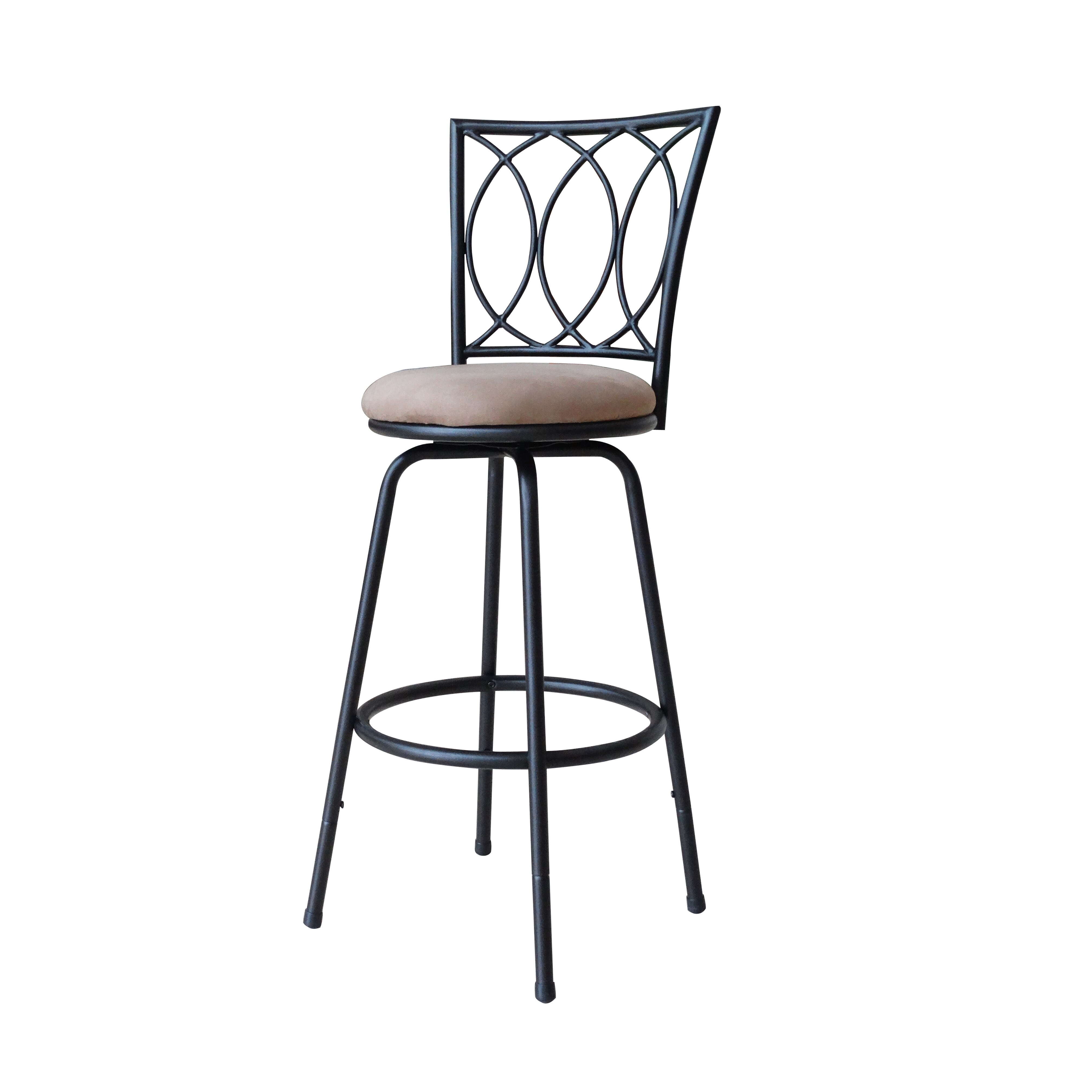 Roundhill Furniture Adjustable Height Bar Stool with  : Redico Adjustable Metal Barstool Powder Coated Brown PC036 from www.wayfair.com size 4030 x 4030 jpeg 650kB