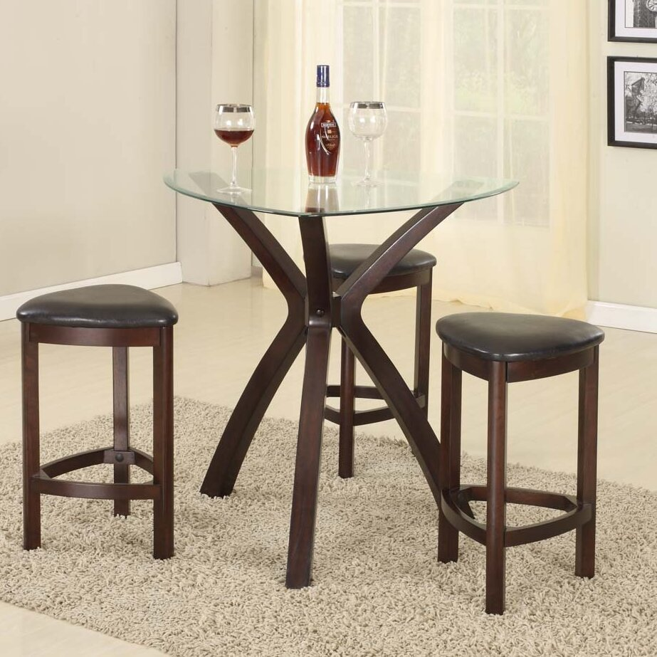 Counter Height Table Sets : ... Furniture 4 Piece Counter Height Pub Table Set & Reviews Wayfair