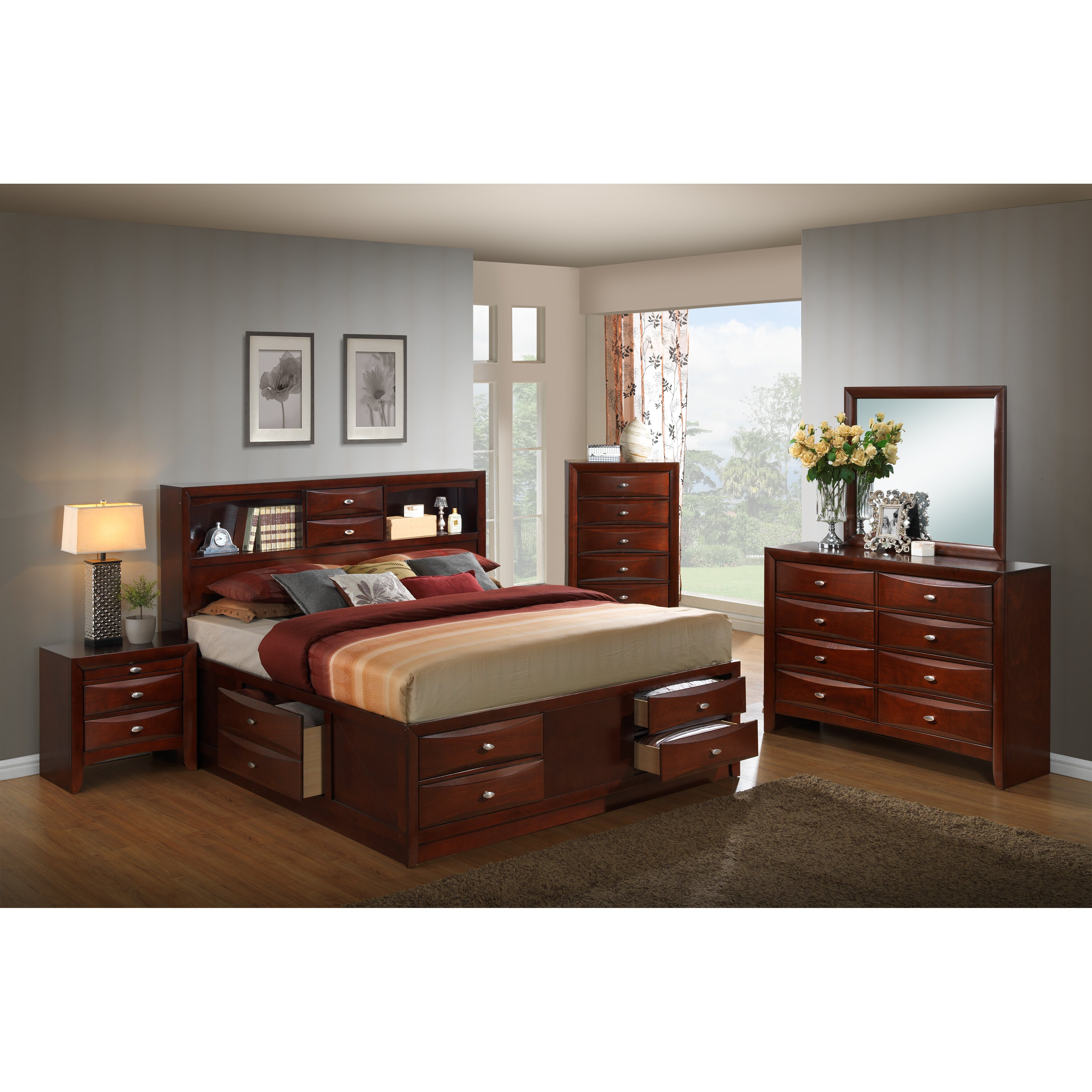 furniture bedroom furniture bedroom sets roundhill furniture sku