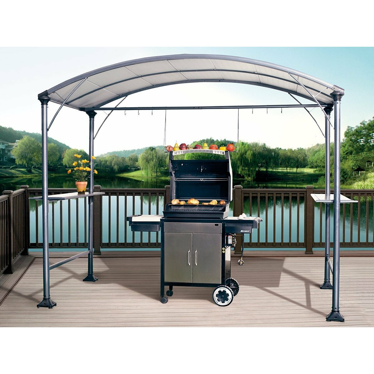 9 X 5 Outdoor Backyard BBQ Grill Gazebo Wayfair