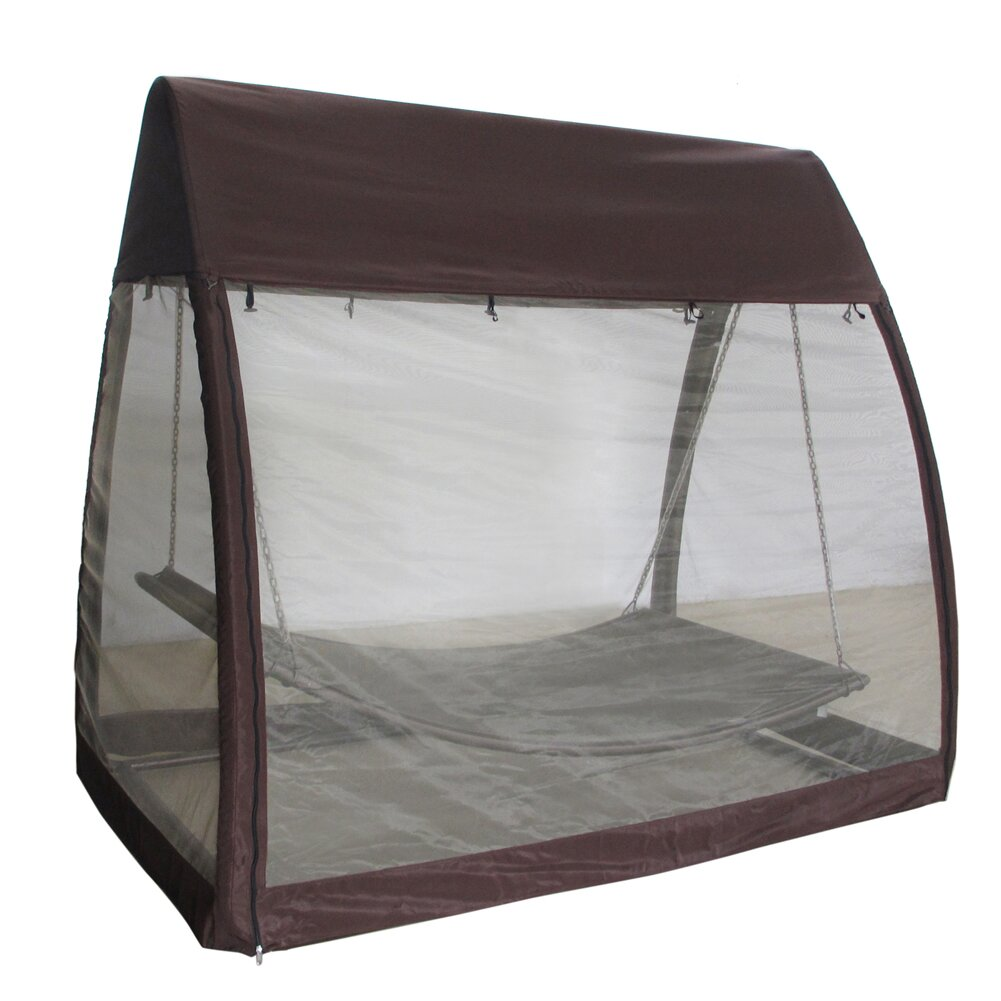 Outdoor Arched Canopy Cover Hanging Swing Hammock With
