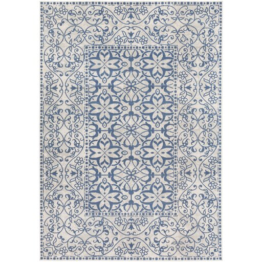 Bungalow Rose Septfontaines Beige/Teal Area Rug & Reviews