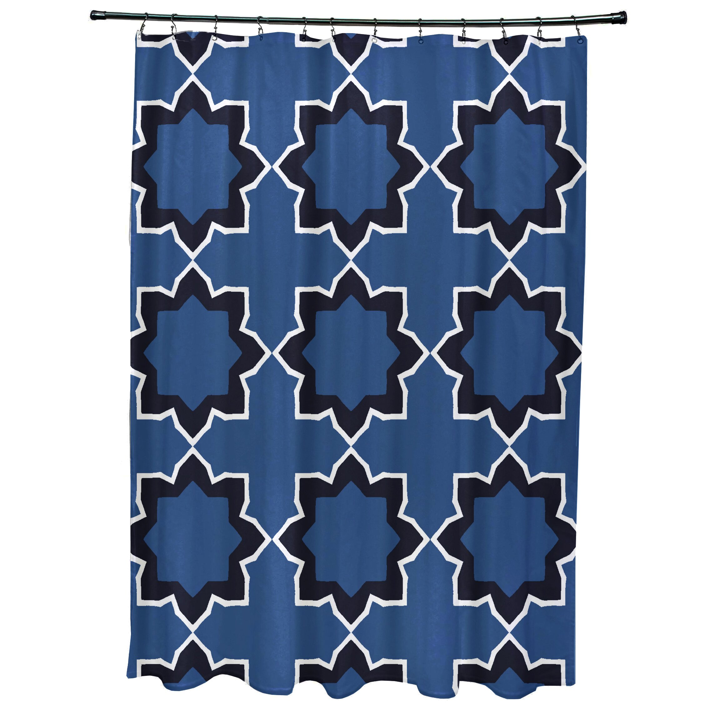 Oliver Bohemian Geometric Print Shower Curtain by Bungalow Rose