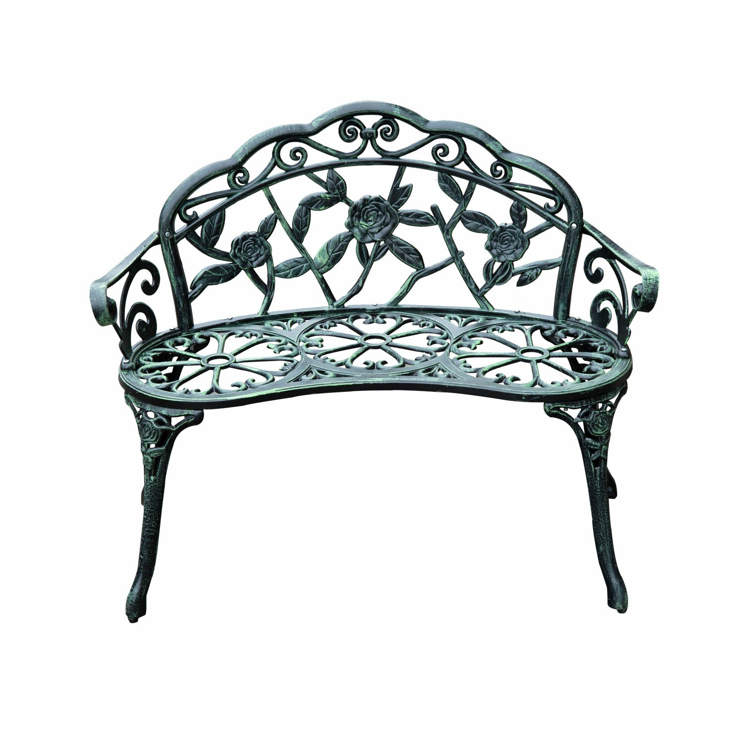 Outsunny Cast Iron Antique Outdoor Patio Garden Bench & Reviews ...