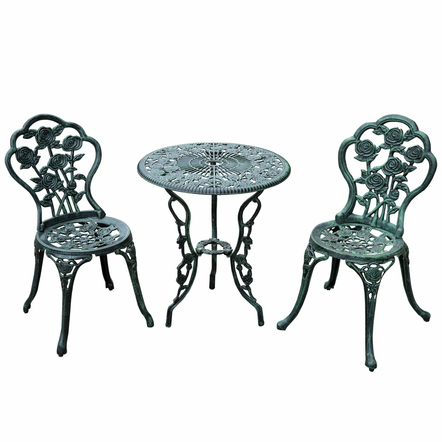 Outsunny 3 Piece Bistro Set Amp Reviews Wayfair