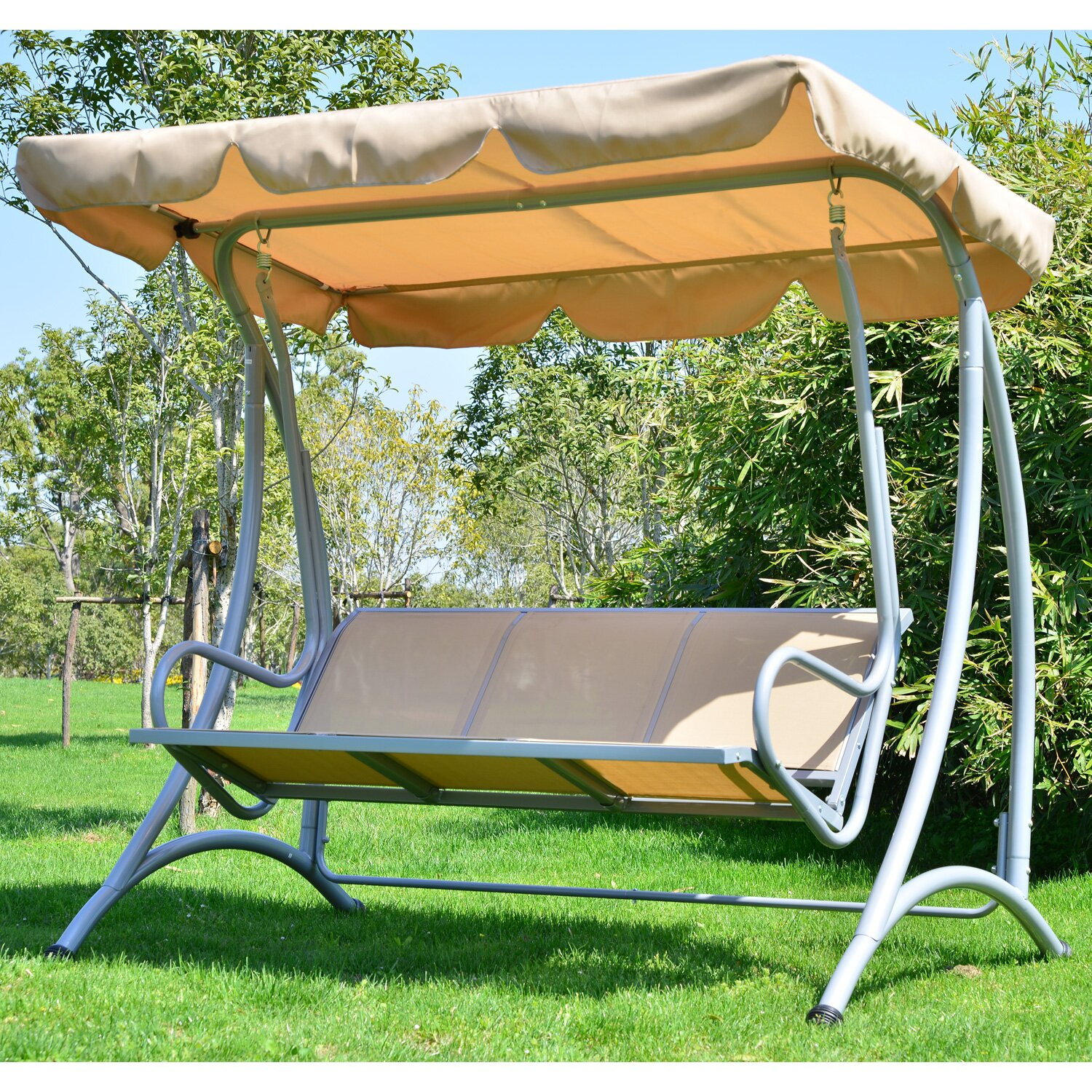Outsunny Outsunny Patio Swing with Stand & Reviews