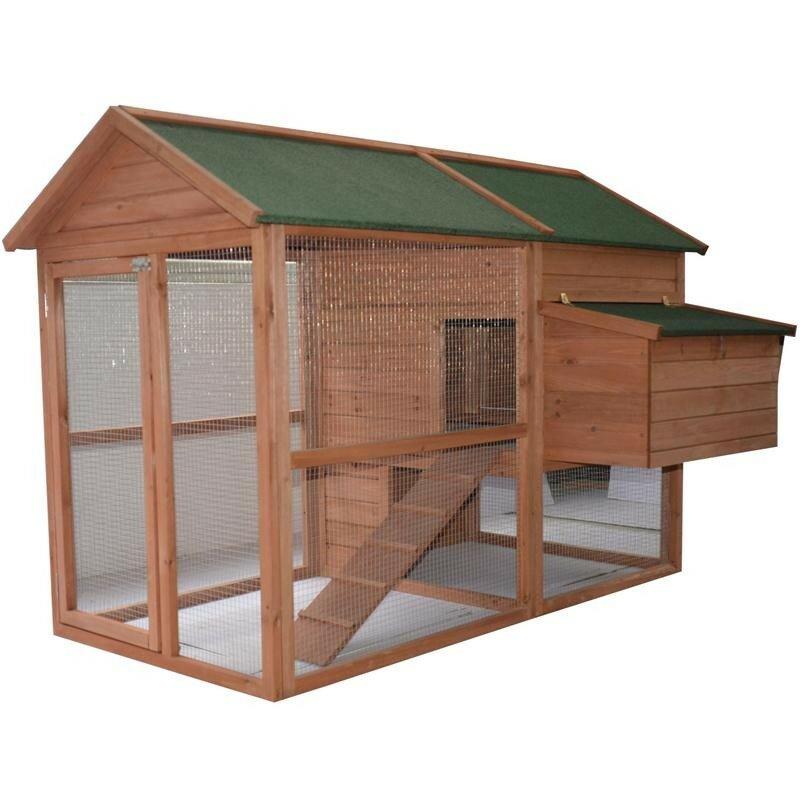 pawhut chicken coop extension 2