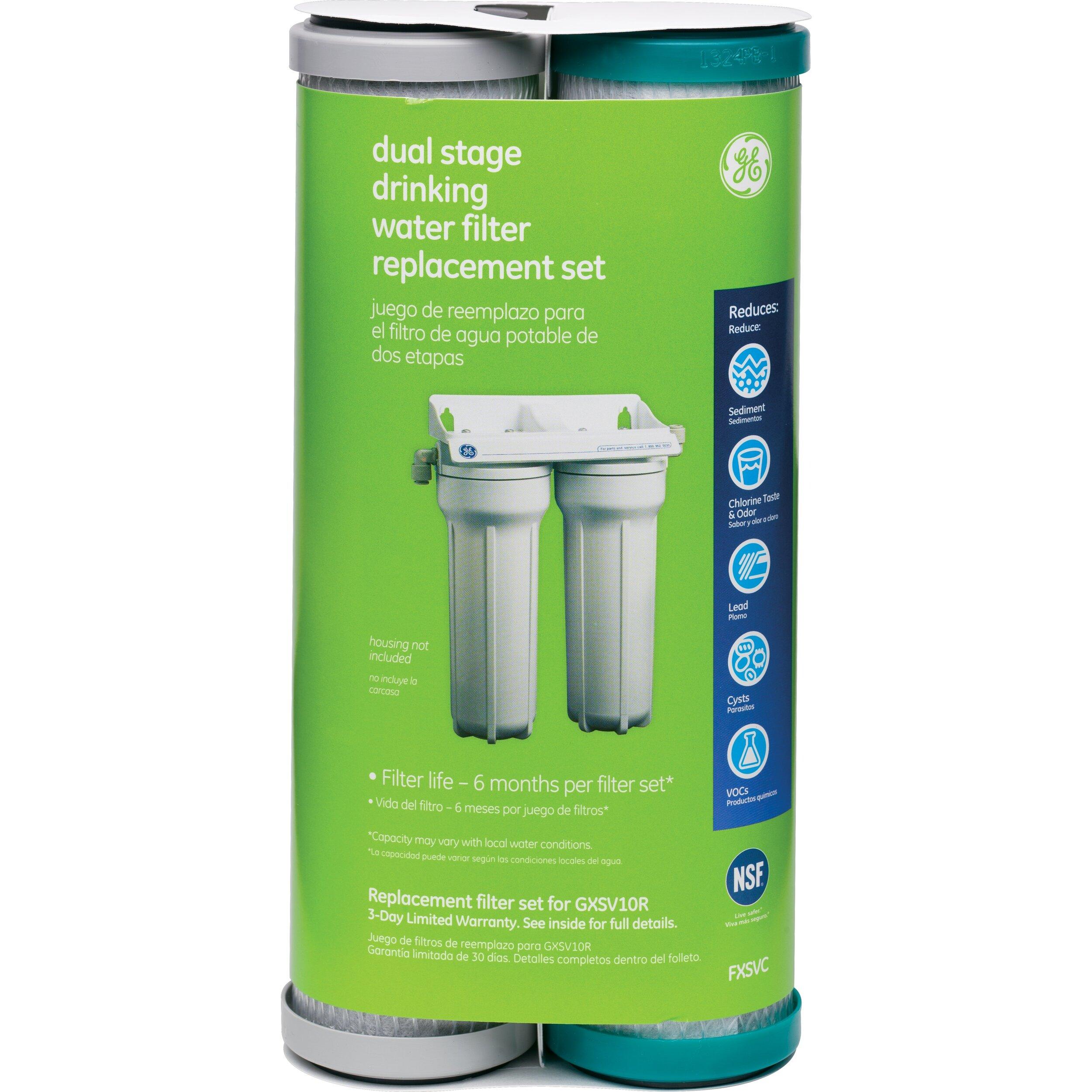 smart water dual stage under sink replacement filter cartridge wayfair. Black Bedroom Furniture Sets. Home Design Ideas